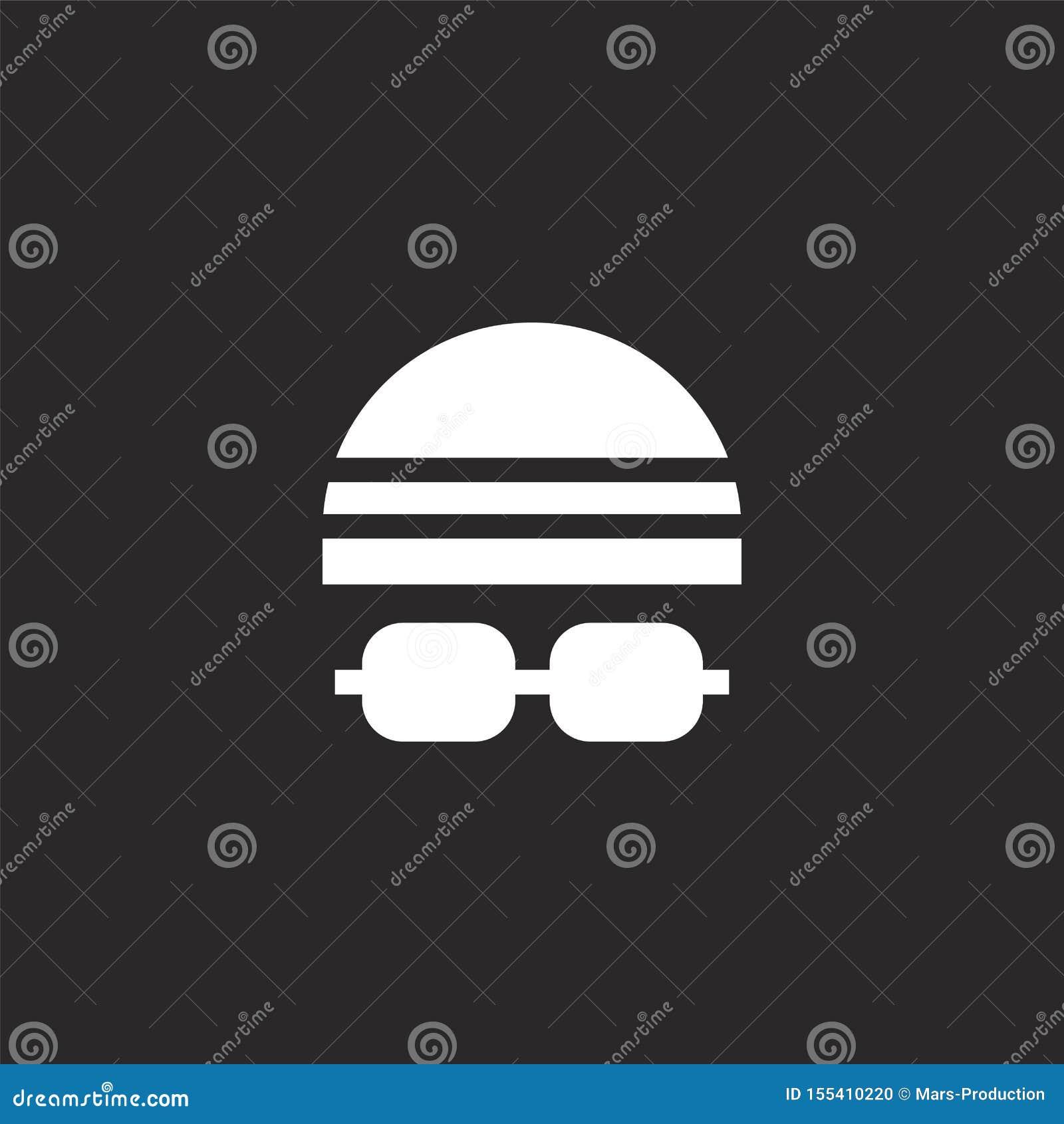 Icono del casquillo de la nadada Icono llenado del casquillo de la nadada para el diseño y el móvil, desarrollo de la página web