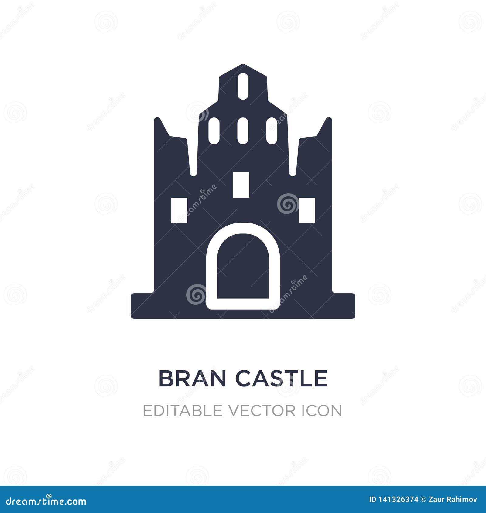 Icono del castillo del salvado en el fondo blanco Ejemplo simple del elemento del concepto de los monumentos