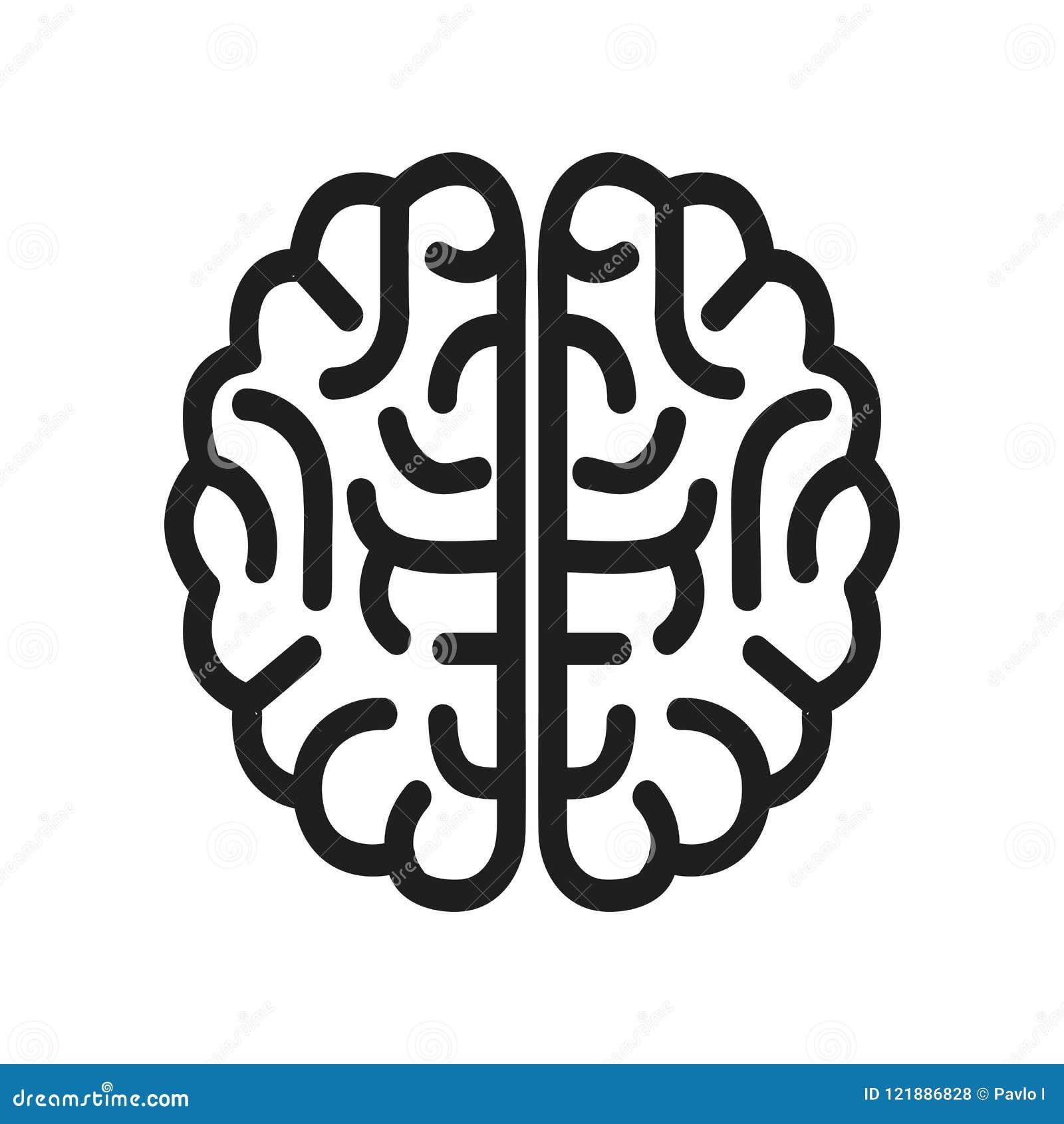 Icono del cerebro humano - vector