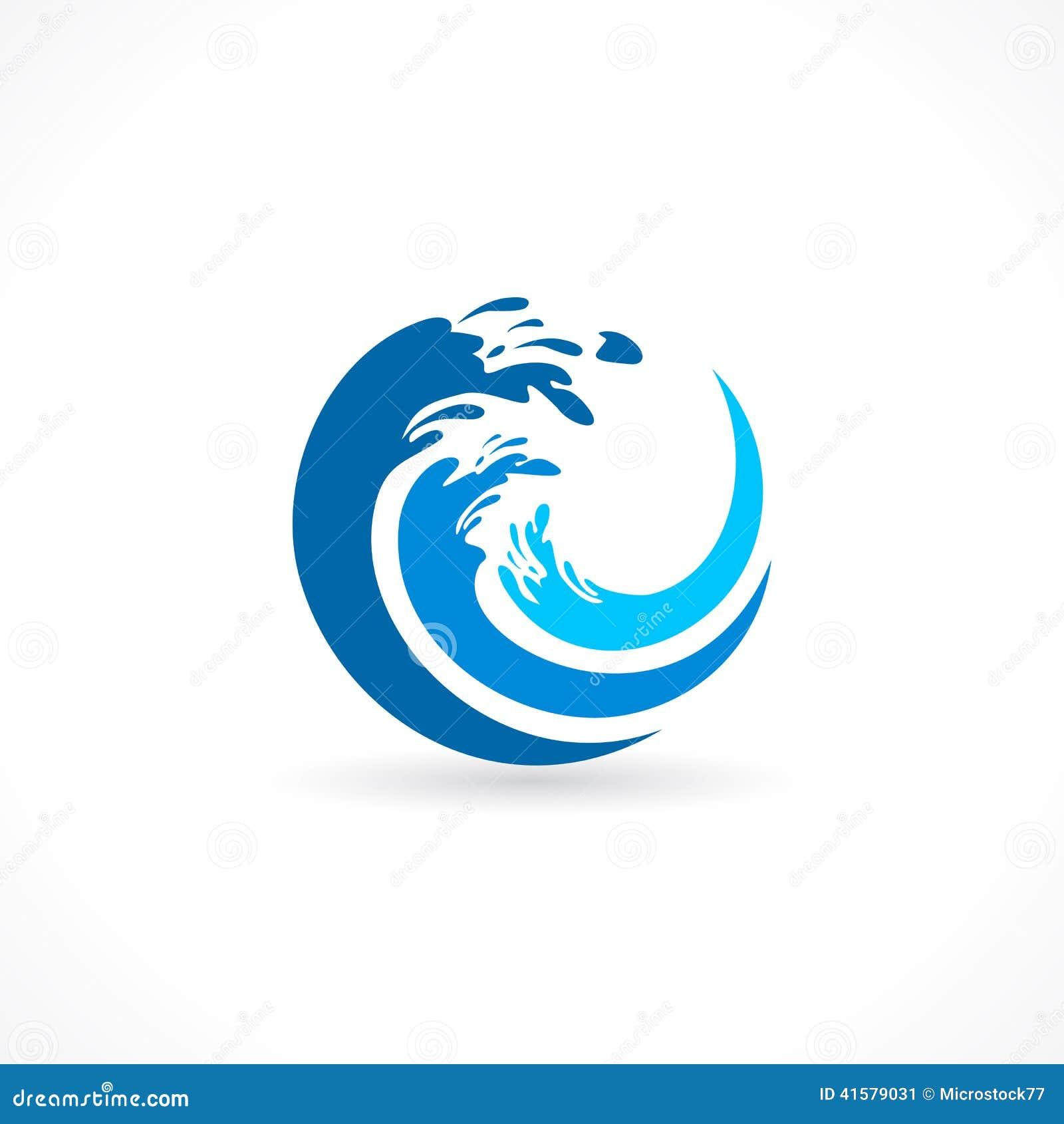 Icono del chapoteo de la onda de agua