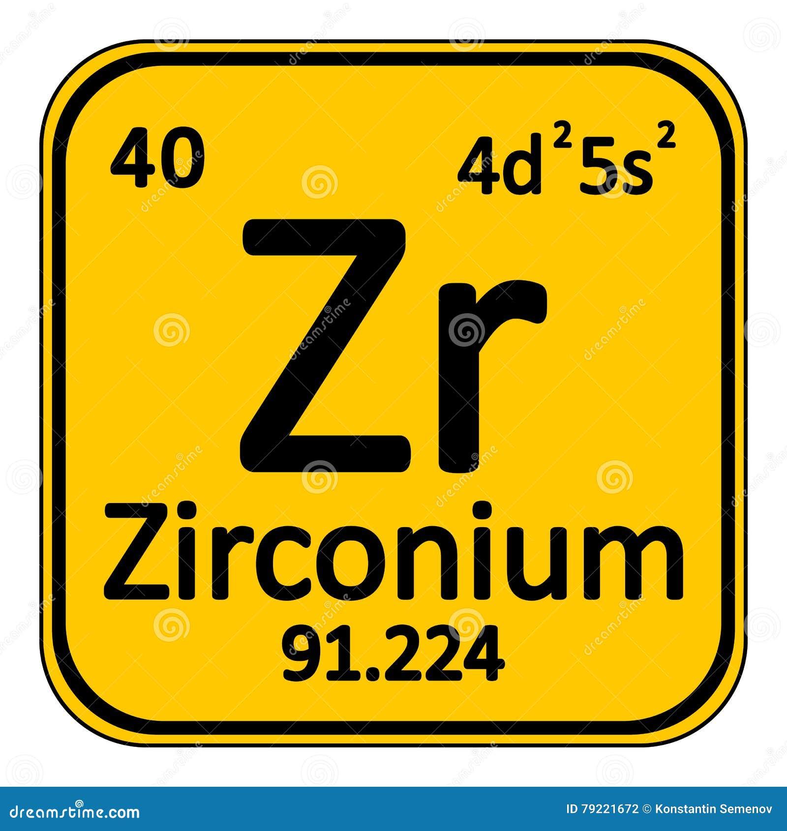Icono del circonio del elemento de tabla peridica stock de icono del circonio del elemento de tabla peridica urtaz Choice Image
