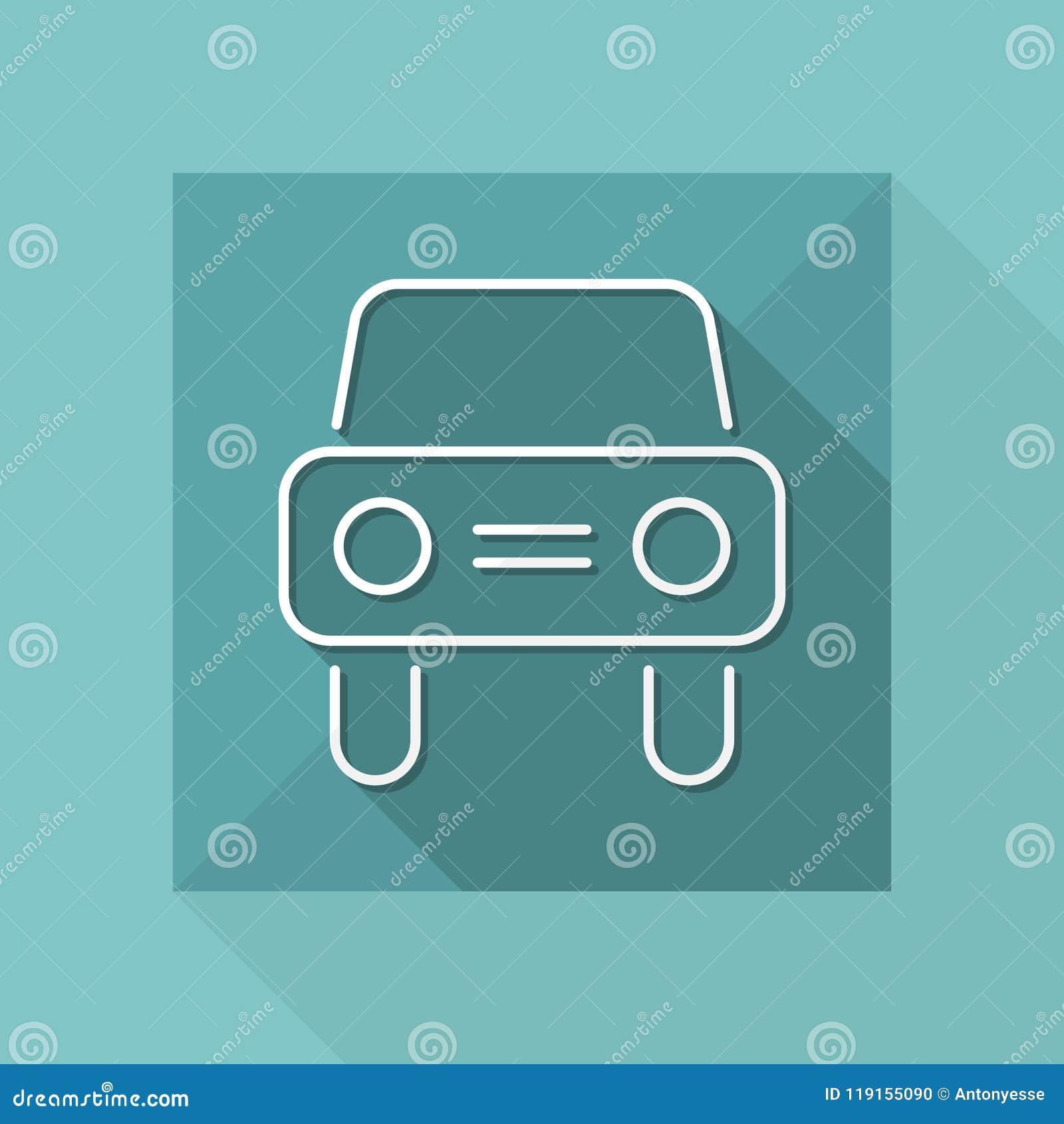 Icono del coche - serie fina