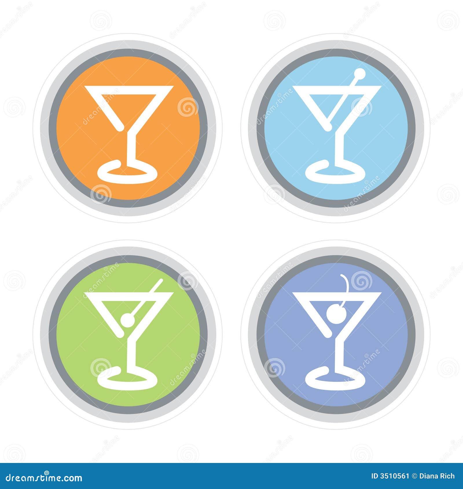 Icono del coctel de Martini