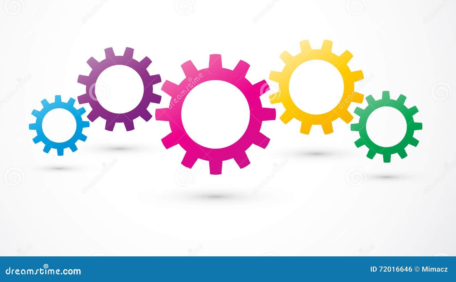 Icono Del Color De Los Engranajes Ilustración Del Vector