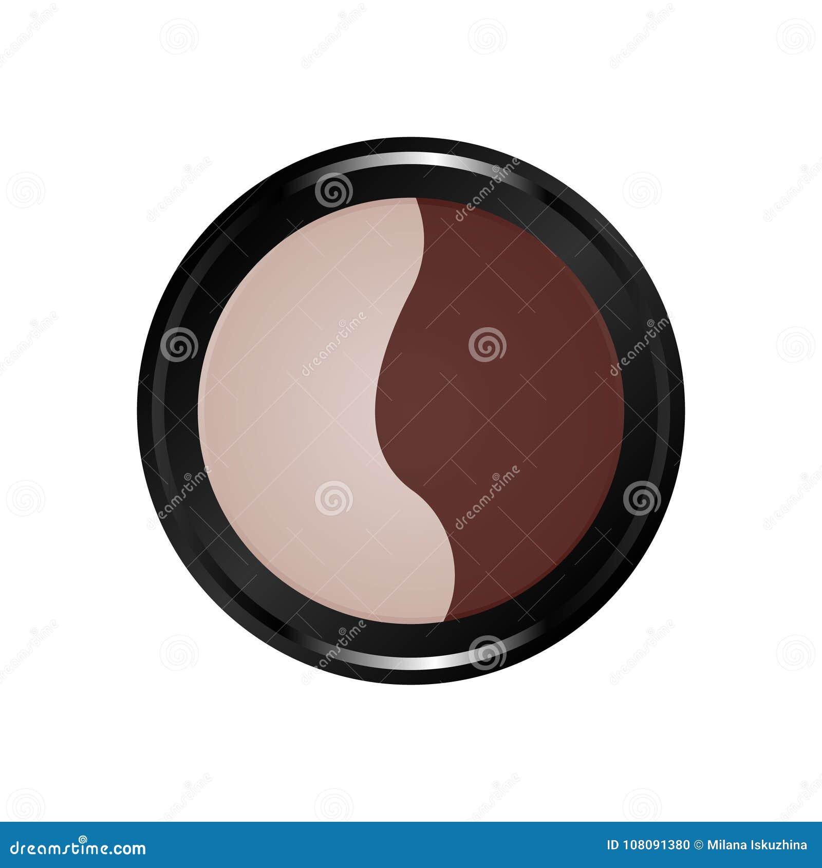 Icono del color del equipo del maquillaje cosmético