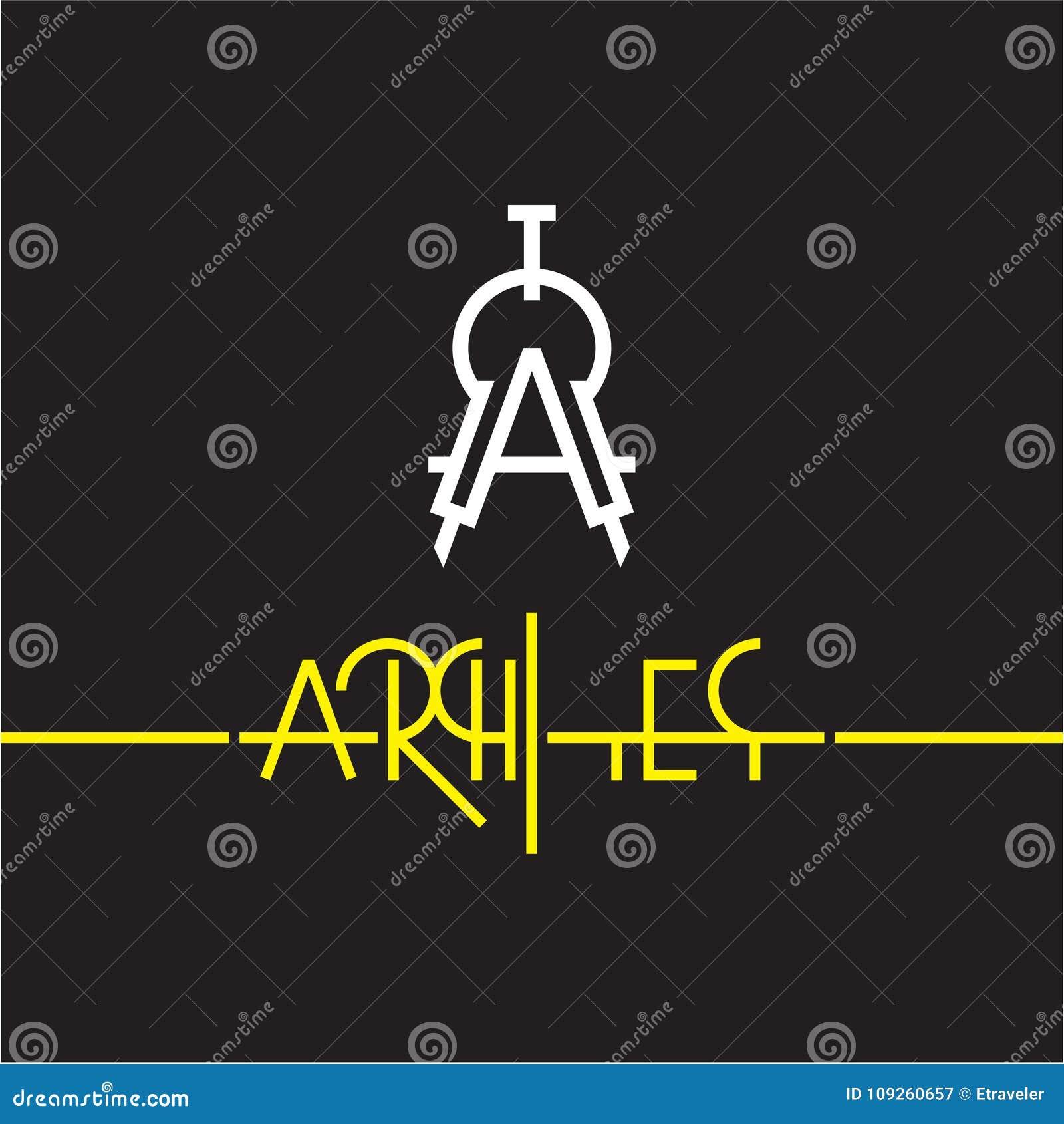 Icono Del Compás, Divisor, Logotipo Del Arquitecto Ilustración del ...