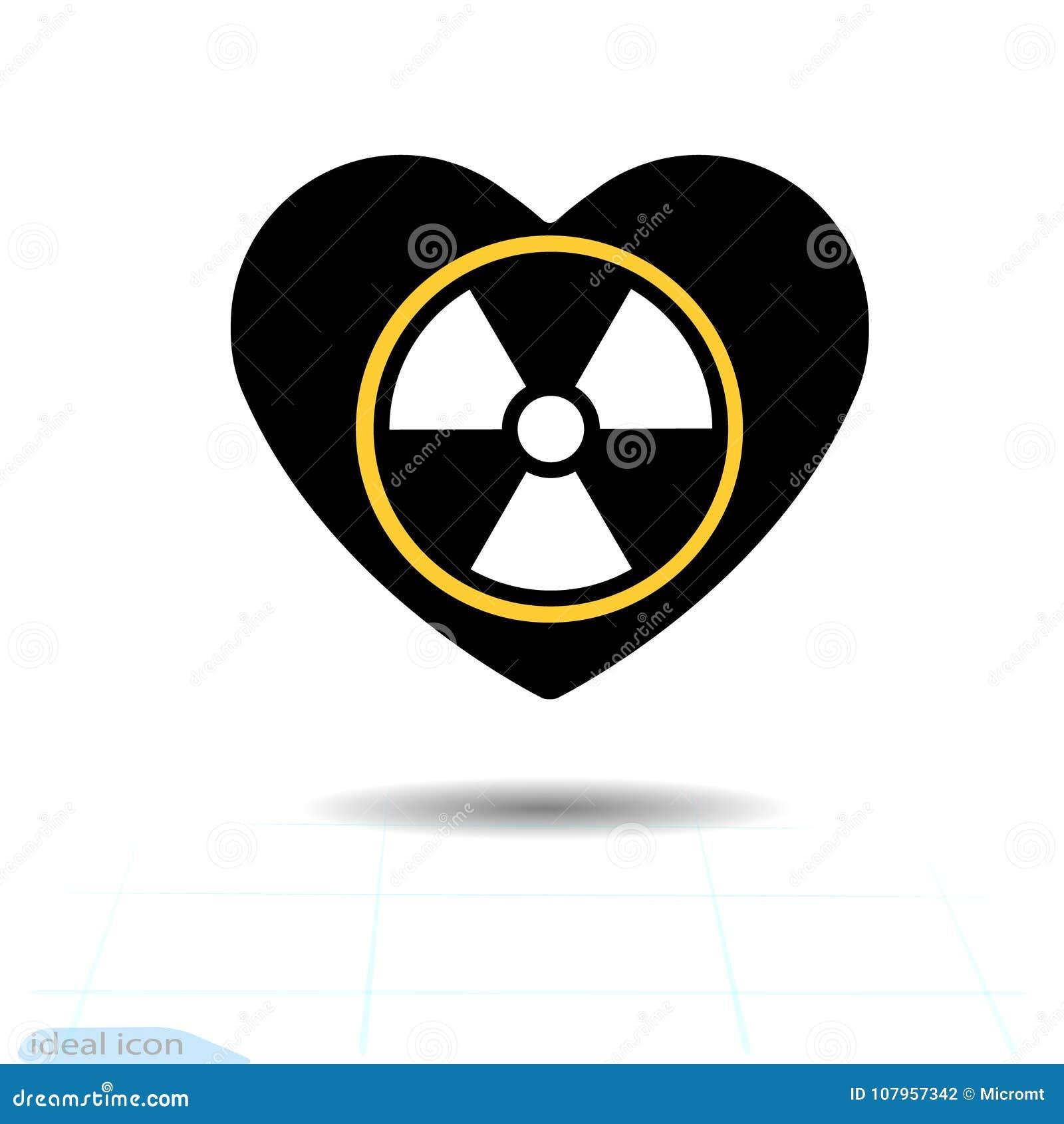 Icono del corazón Un símbolo del amor Día de la tarjeta del día de San Valentín s con la muestra del símbolo de la contaminación
