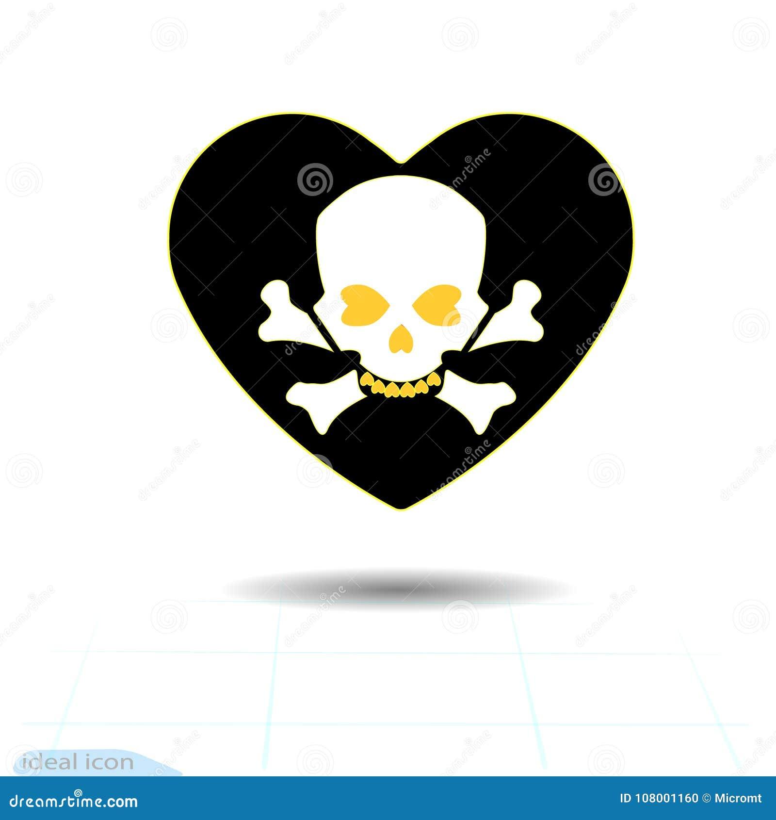 Icono Del Corazón Un Símbolo Del Amor Día De La Tarjeta Del Día De ...