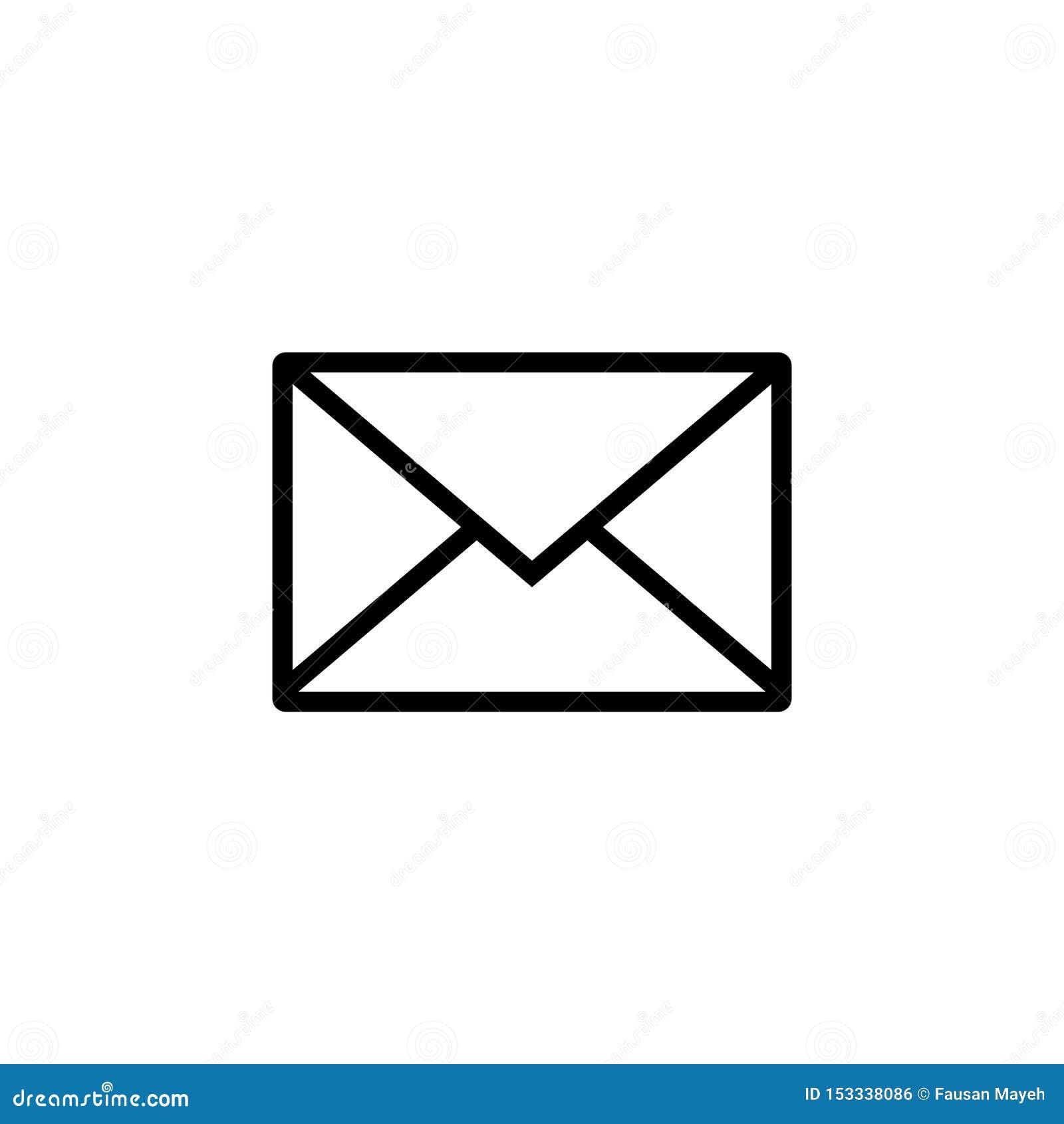 Icono del correo Muestra del sobre Ilustraci?n del vector Fondo transparente Icono del email