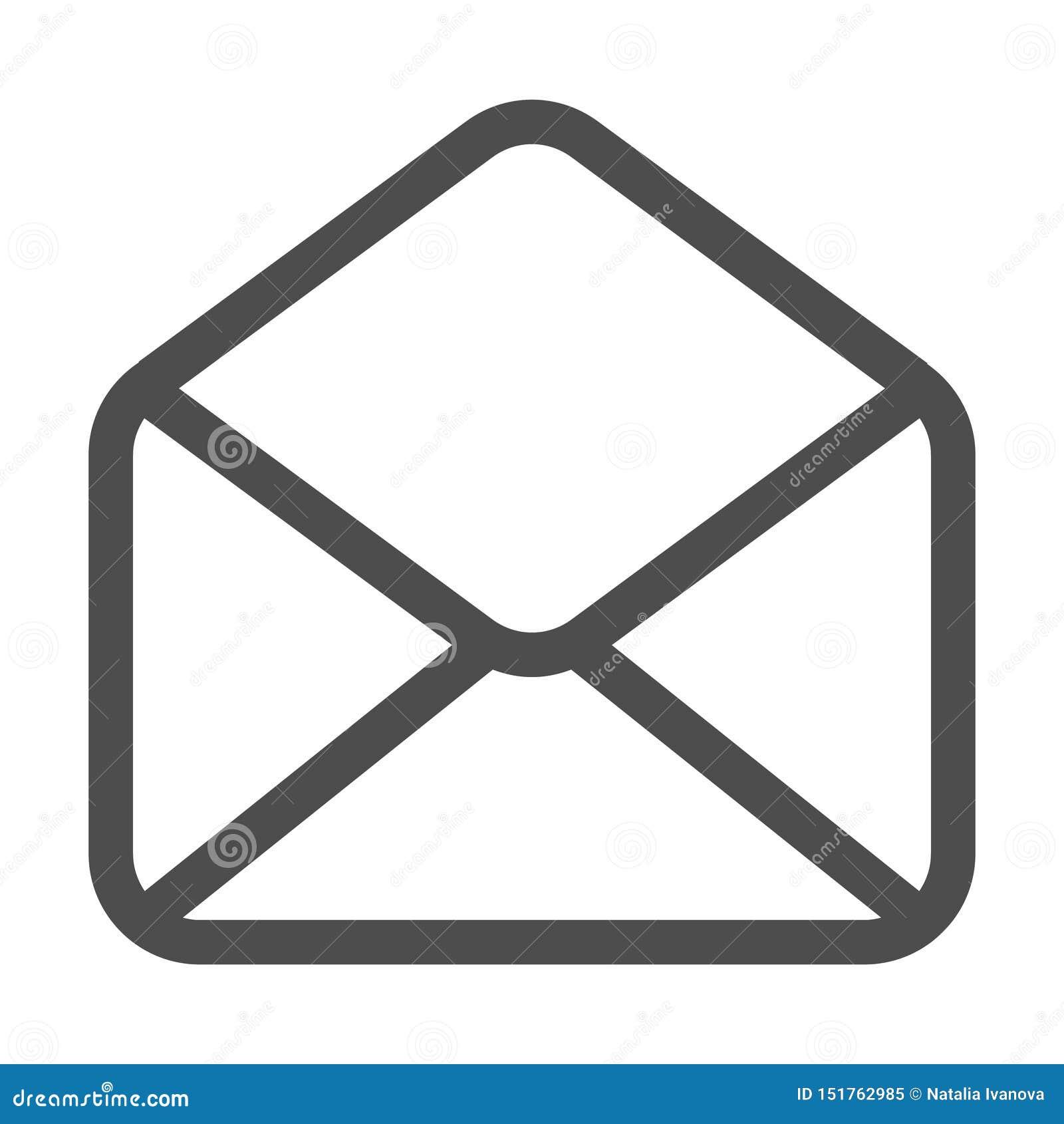 Icono del correo y del email aislado Email del símbolo del sobre Muestra del correo electr?nico Dise?o plano Ilustraci?n del vect