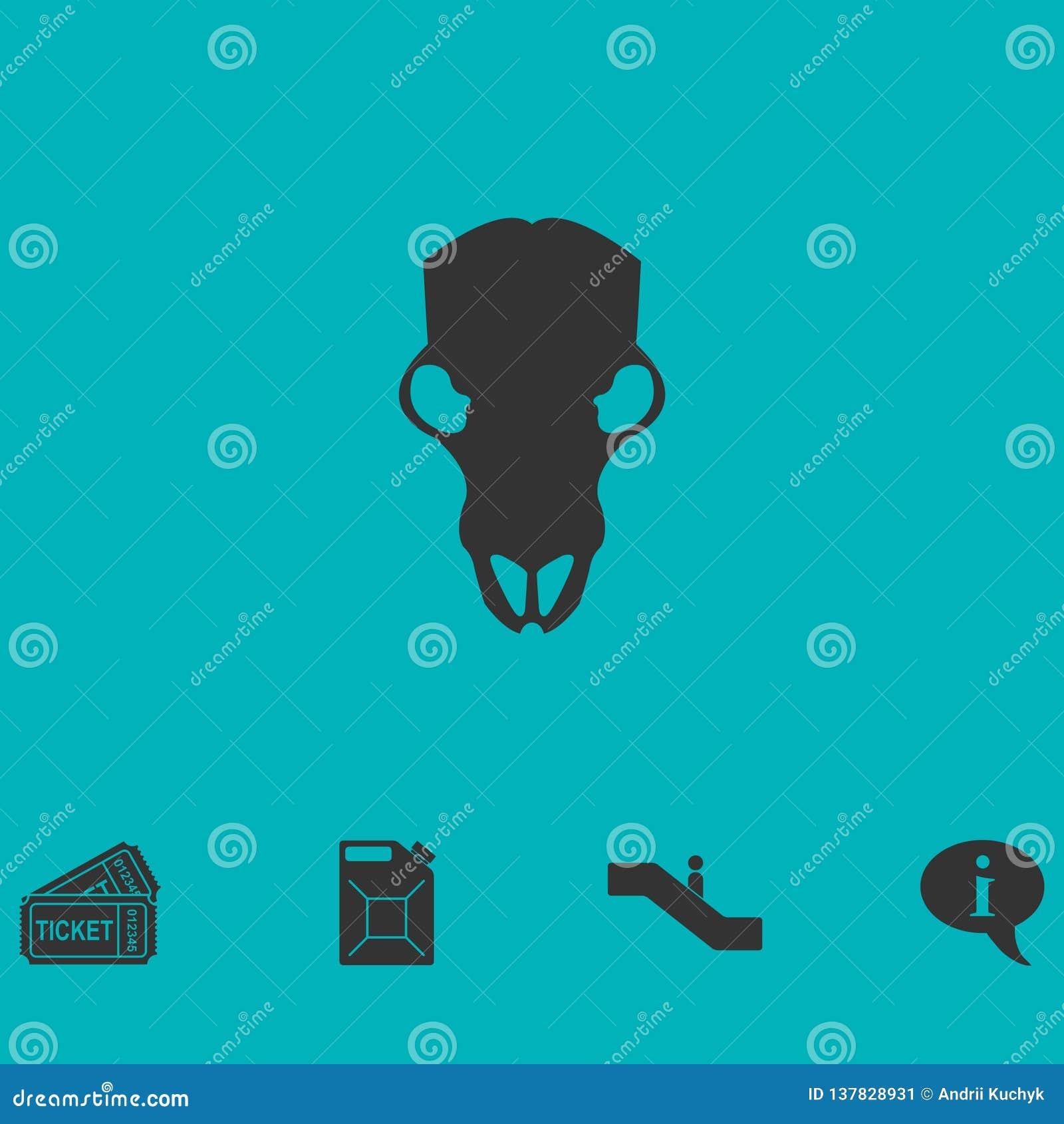 Icono del cráneo de la vaca completamente