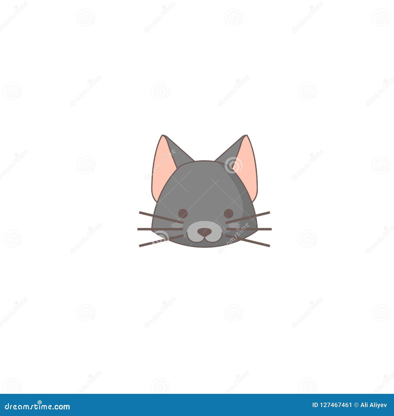 Icono del día de fiesta de Halloween, icono del gato
