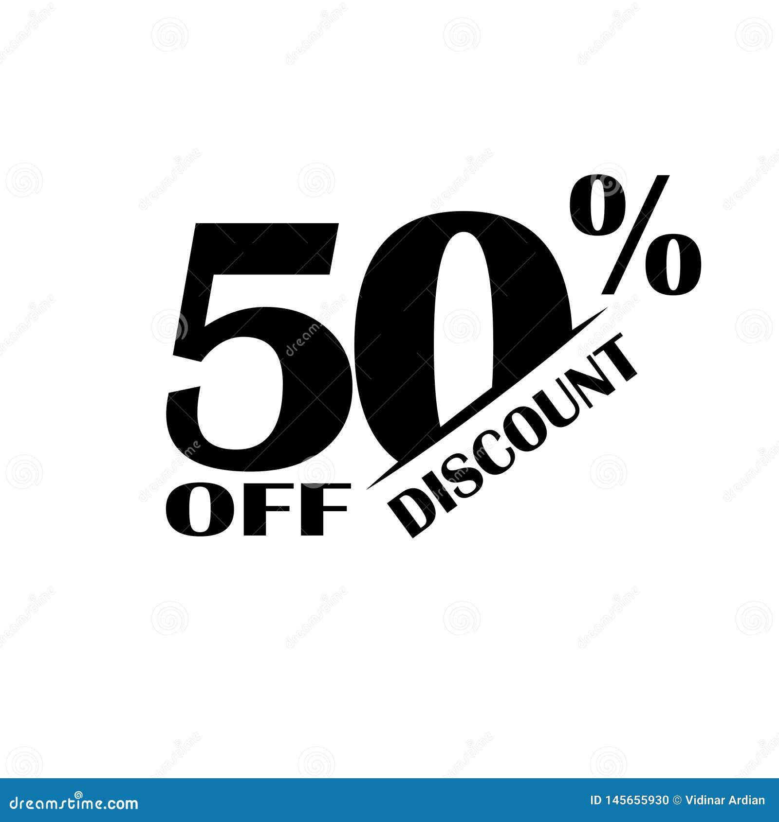 Icono del descuento de las ventas Precio de oferta especial el 50 por ciento - vector