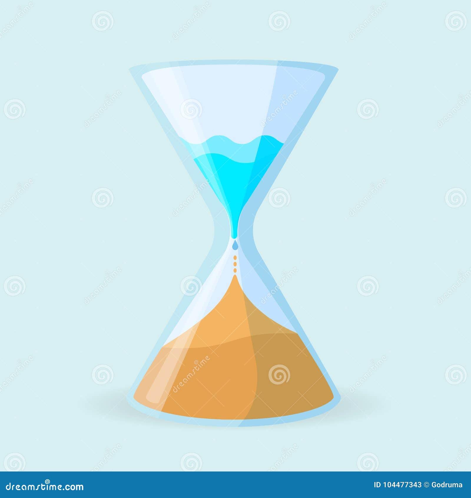 Icono del deshumidificador en la forma de ejemplo del vector del reloj