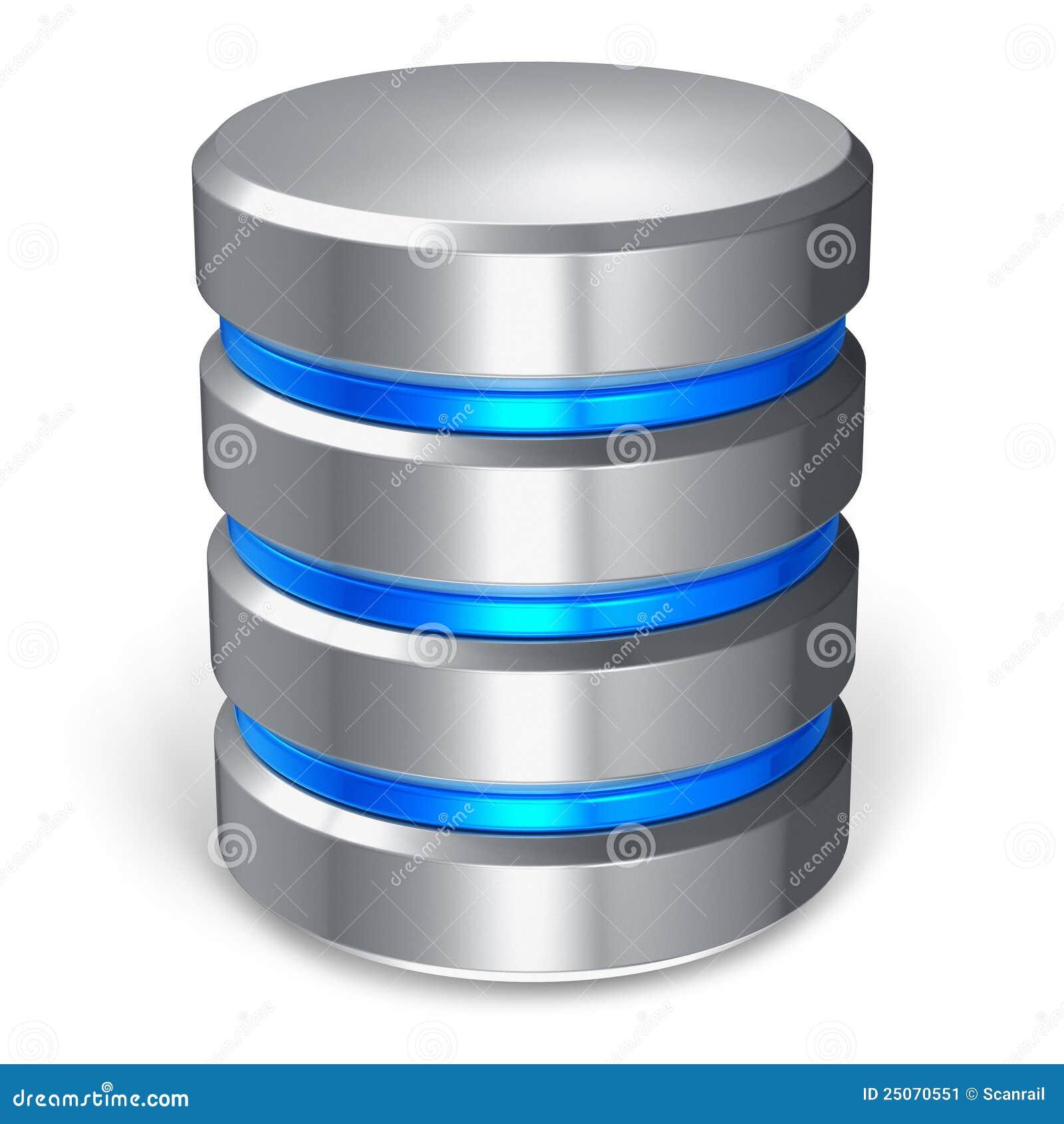 Icono del disco duro y de la base de datos