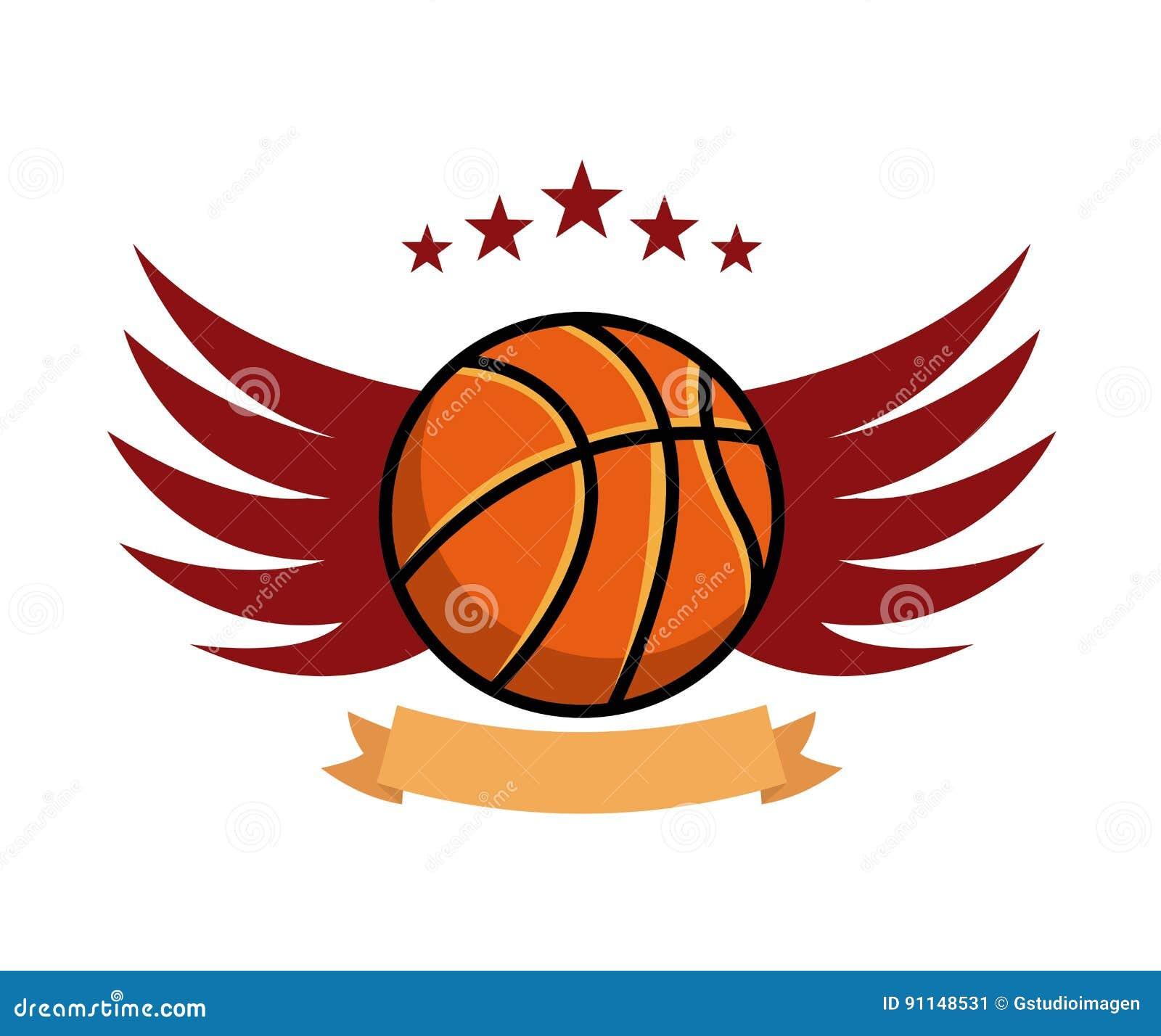 Icono del emblema del deporte del baloncesto