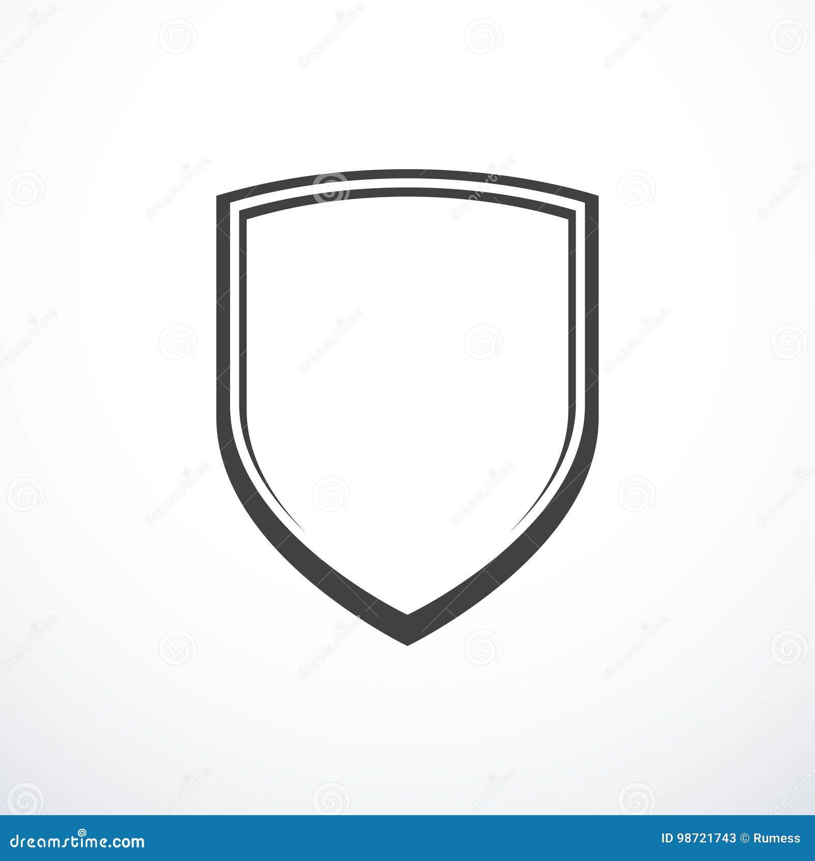 Icono del escudo del vector
