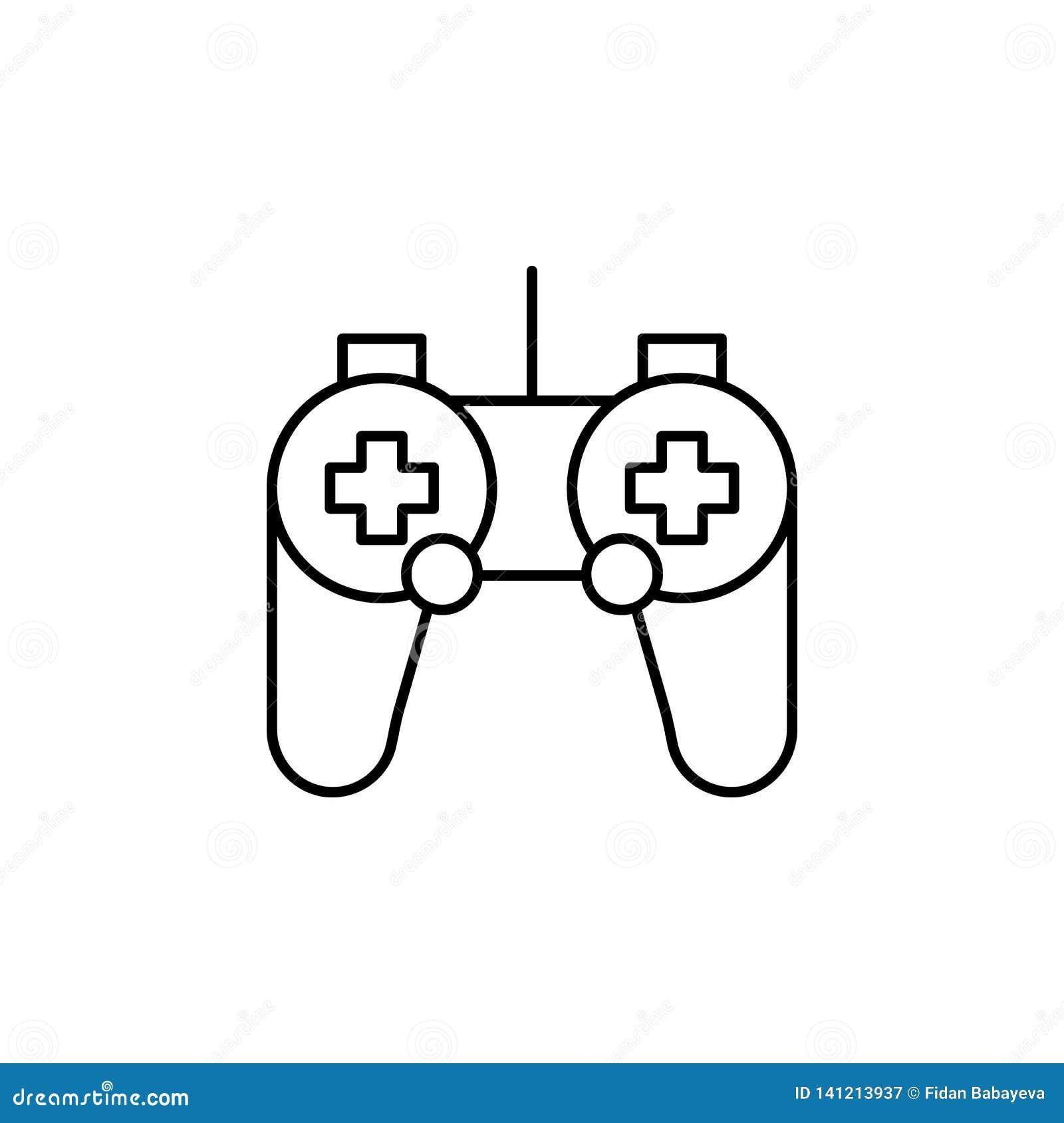Icono del esquema del control de la robótica Las muestras y los símbolos se pueden utilizar para la web, logotipo, app móvil, UI,