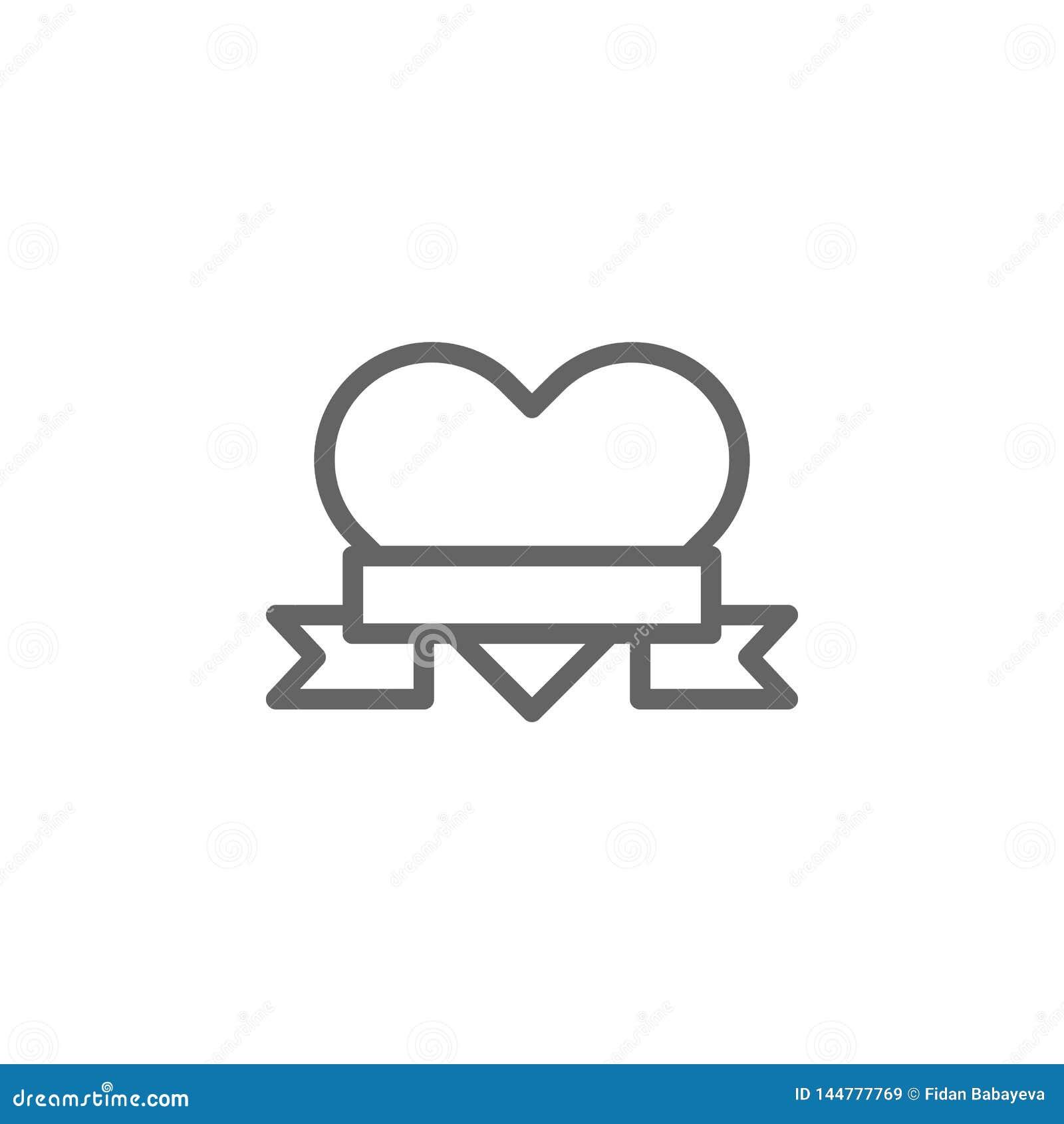 Icono del esquema del coraz?n del d?a de madres r r