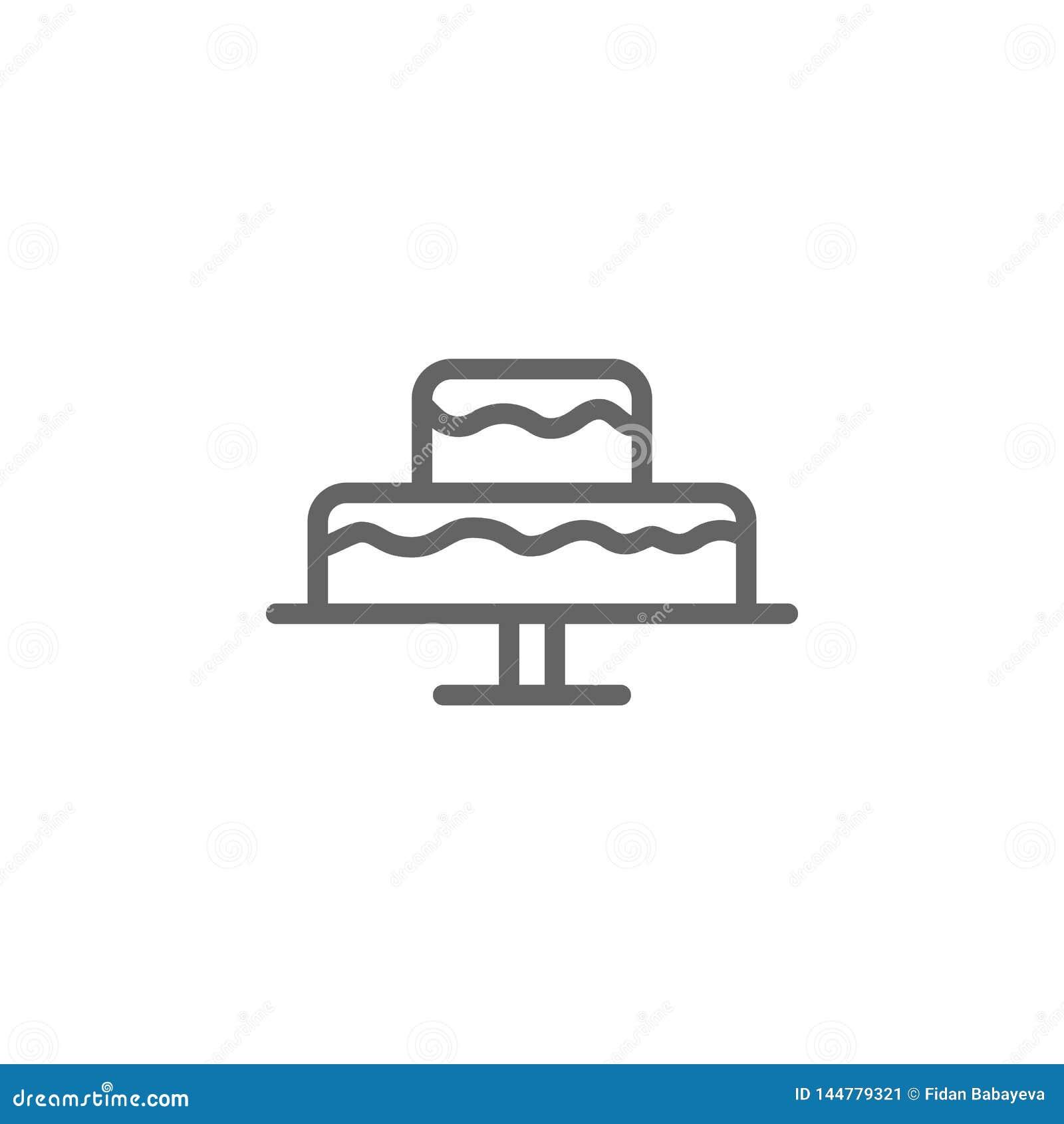 Icono del esquema de la torta del d?a de madres r Las muestras y los s?mbolos se pueden utilizar para la web, logotipo, app m?vil