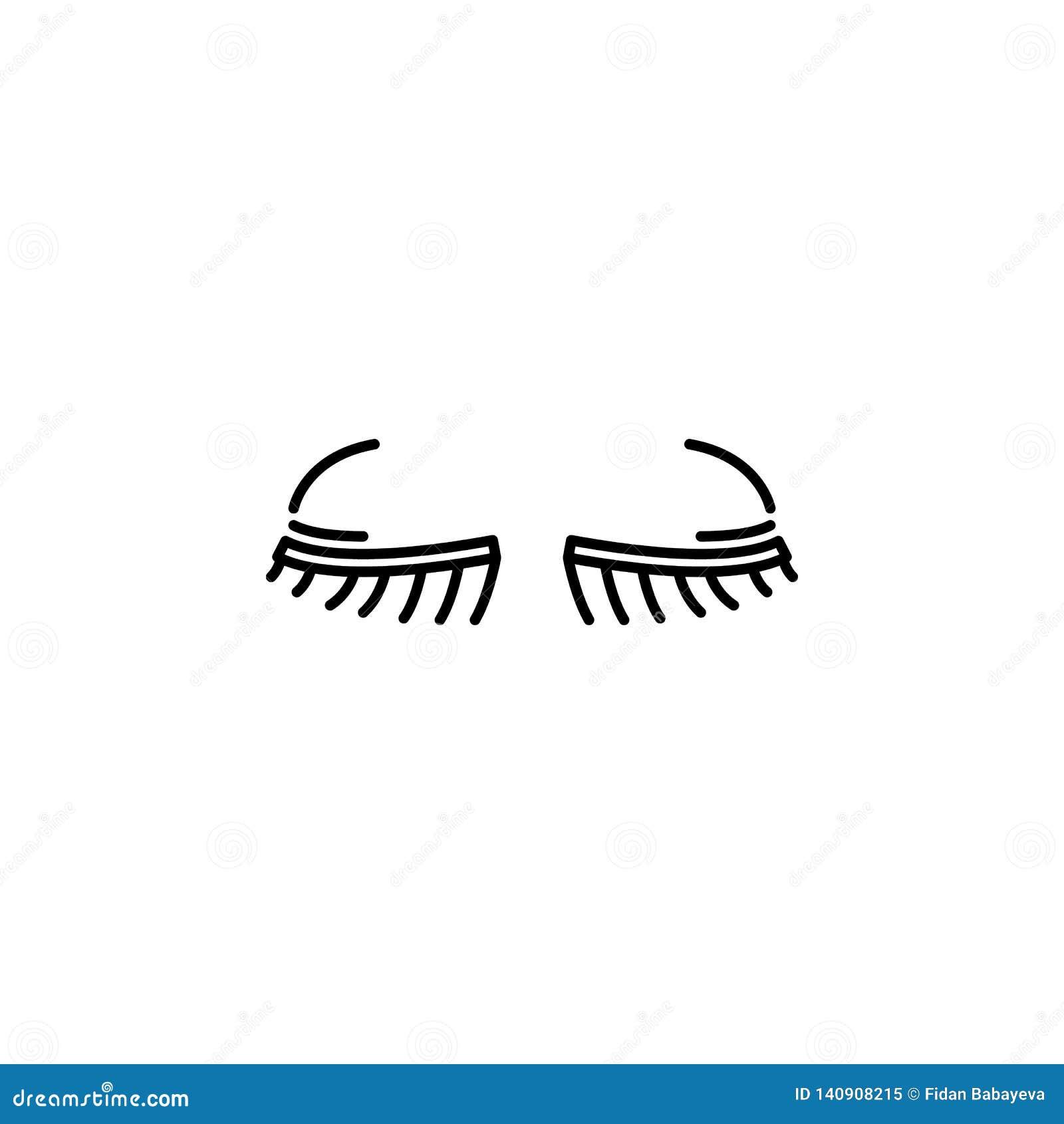 Icono del esquema de las pestañas del órgano humano Las muestras y los símbolos se pueden utilizar para la web, logotipo, app móv
