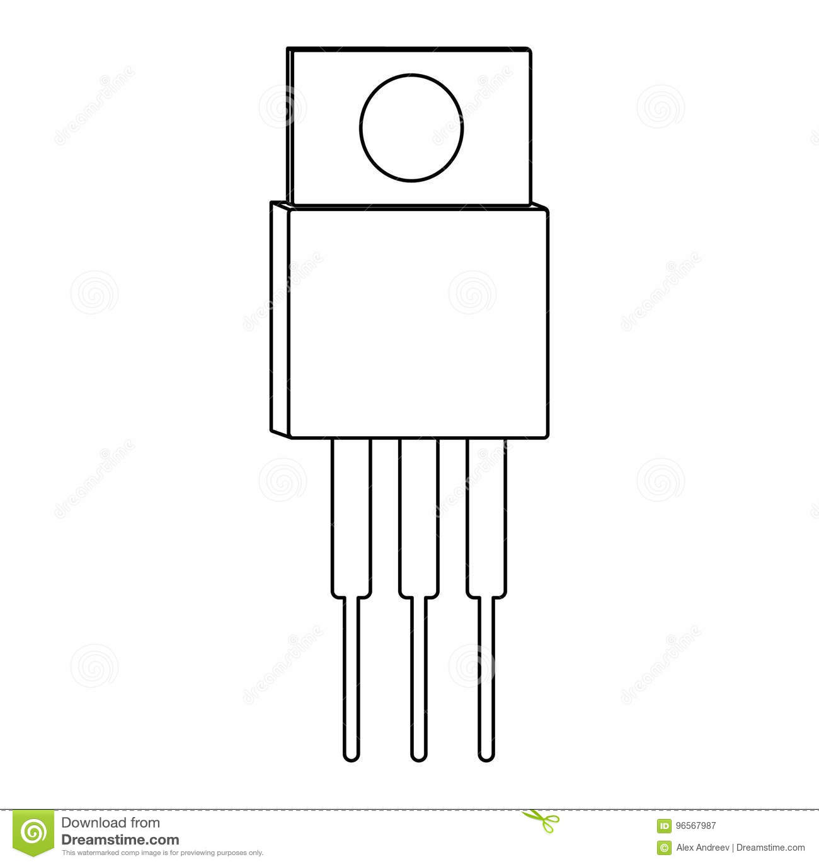 Circuito Transistor : Icono del esquema del transistor ilustración del vector ilustración
