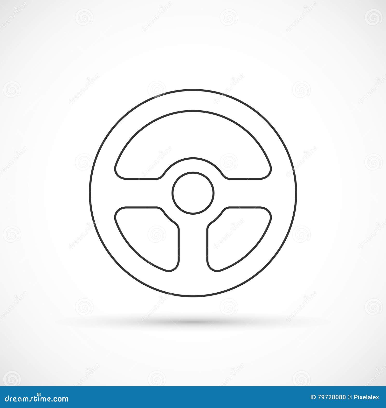 Icono del esquema del volante