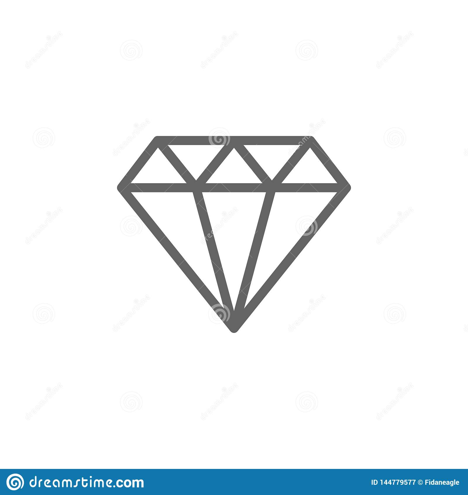 Icono del esquema del diamante del d?a de madres r Las muestras y los s?mbolos se pueden utilizar para la web, logotipo, m?vil