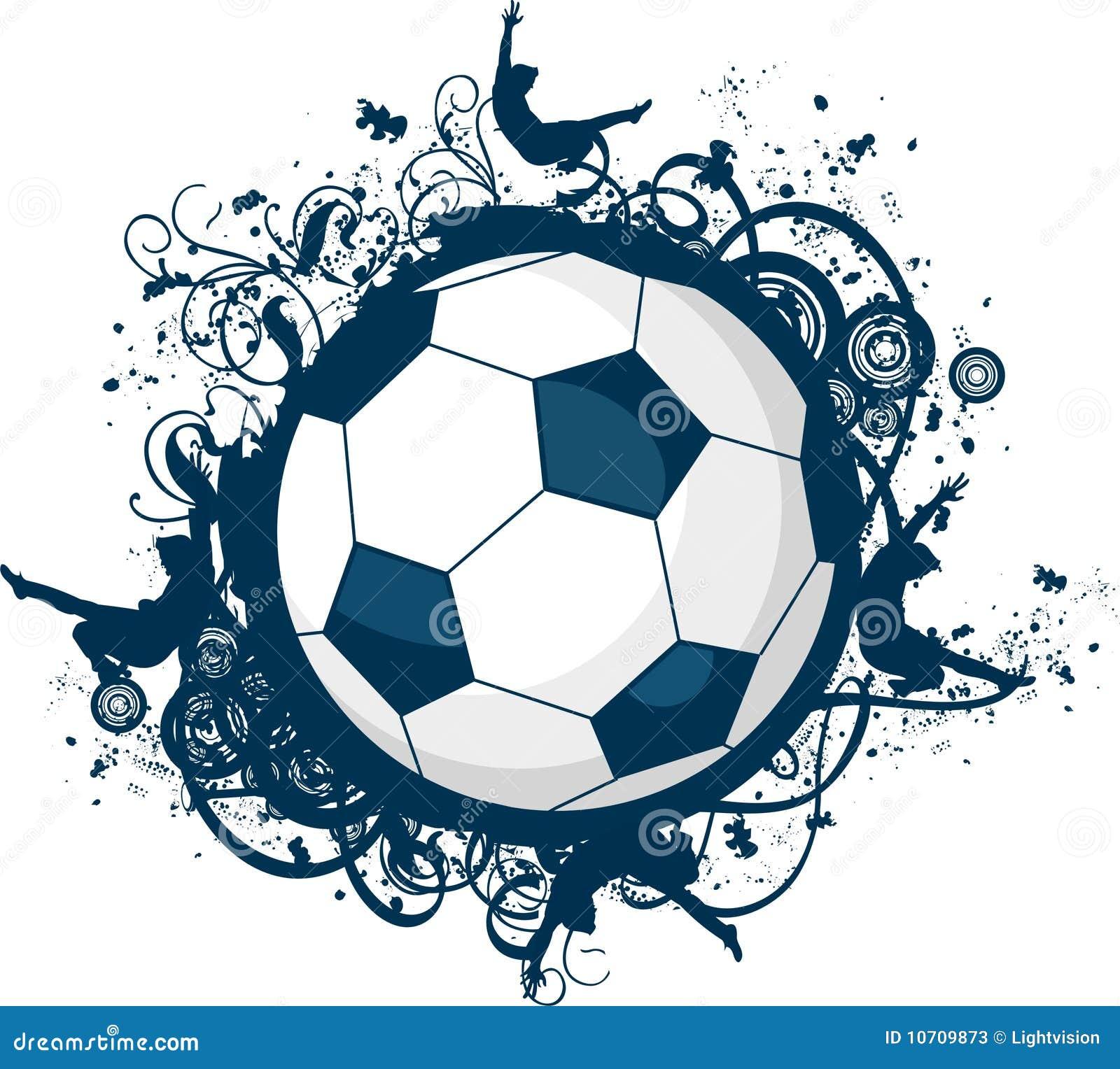 Icono del fútbol de Grunge