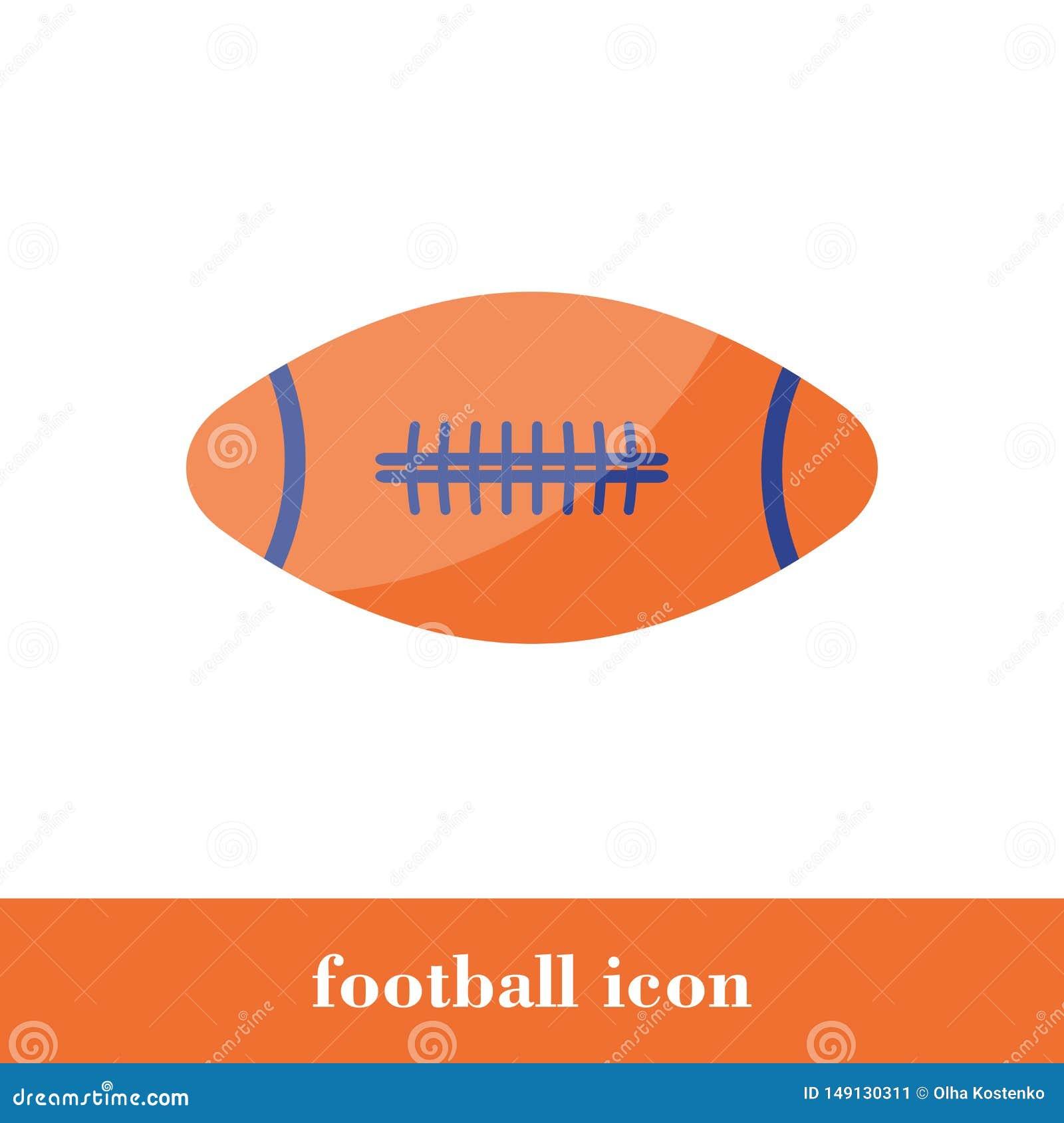 Icono del f?tbol Estilo plano Bola