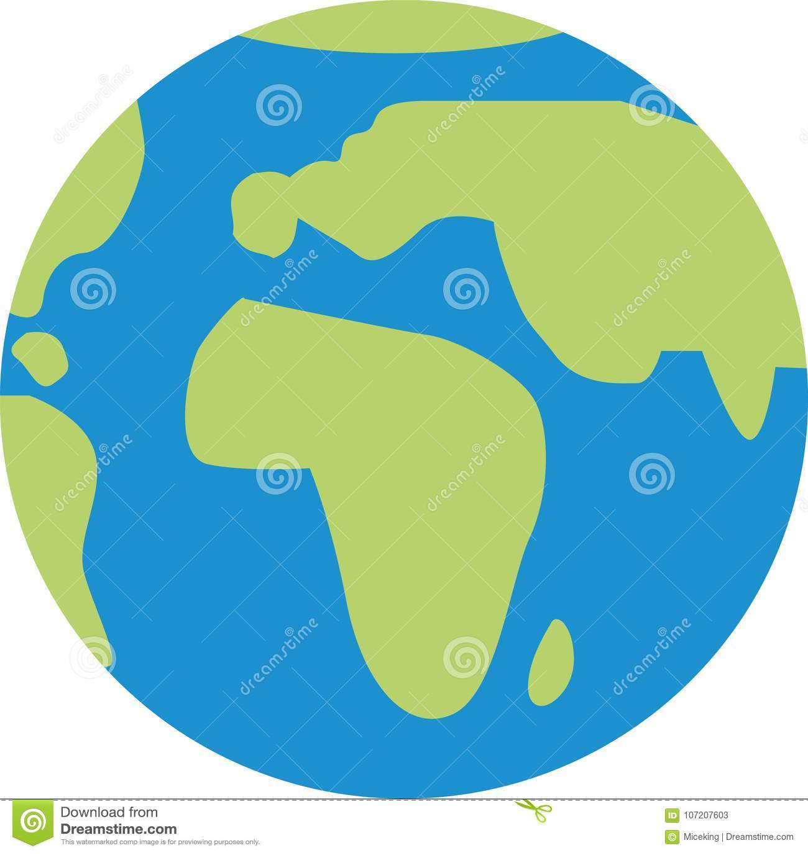 Icono del globo del mundo