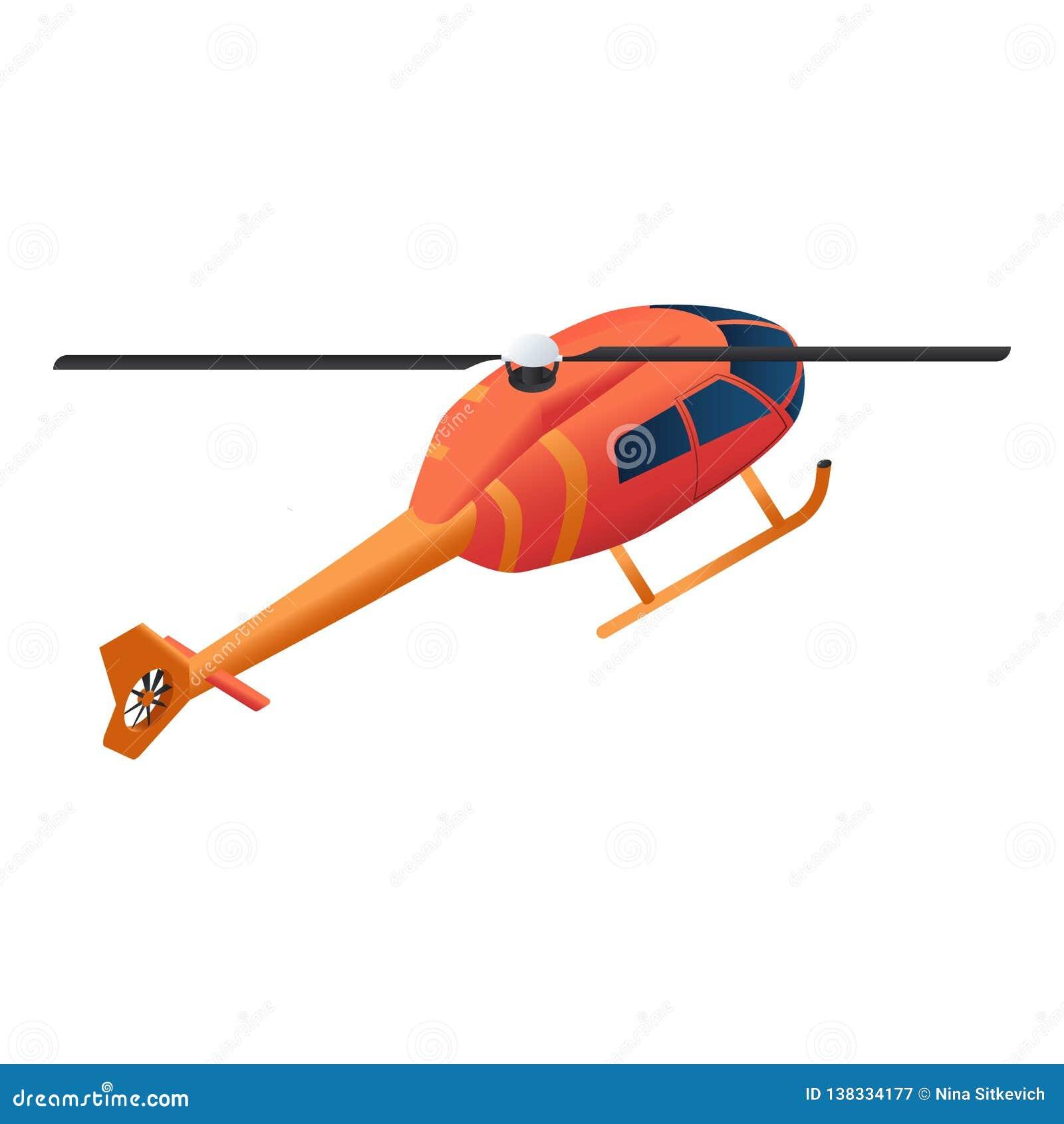 Icono del helicóptero del bombero, estilo isométrico