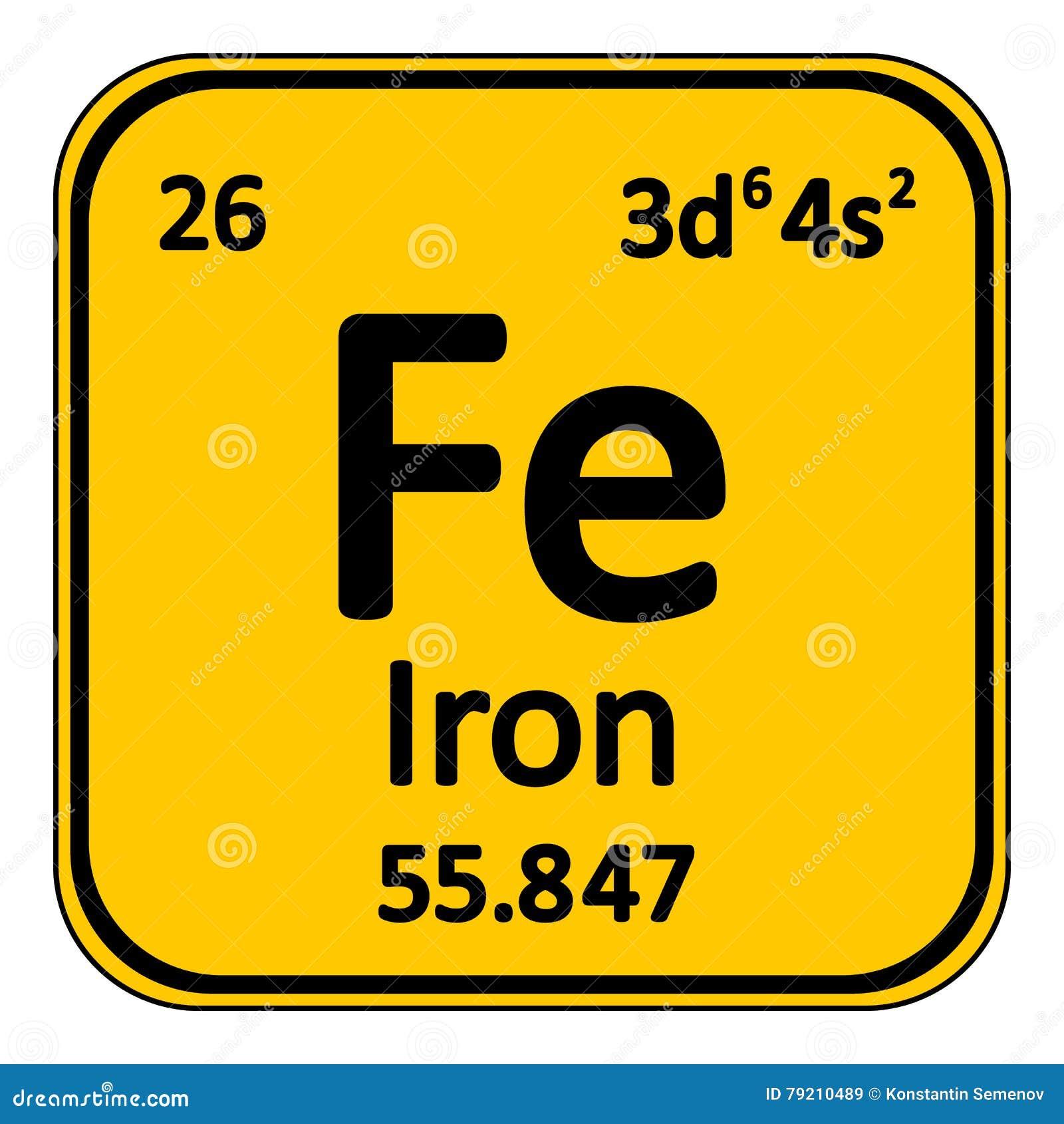 Icono del hierro del elemento de tabla peridica stock de download comp urtaz Choice Image