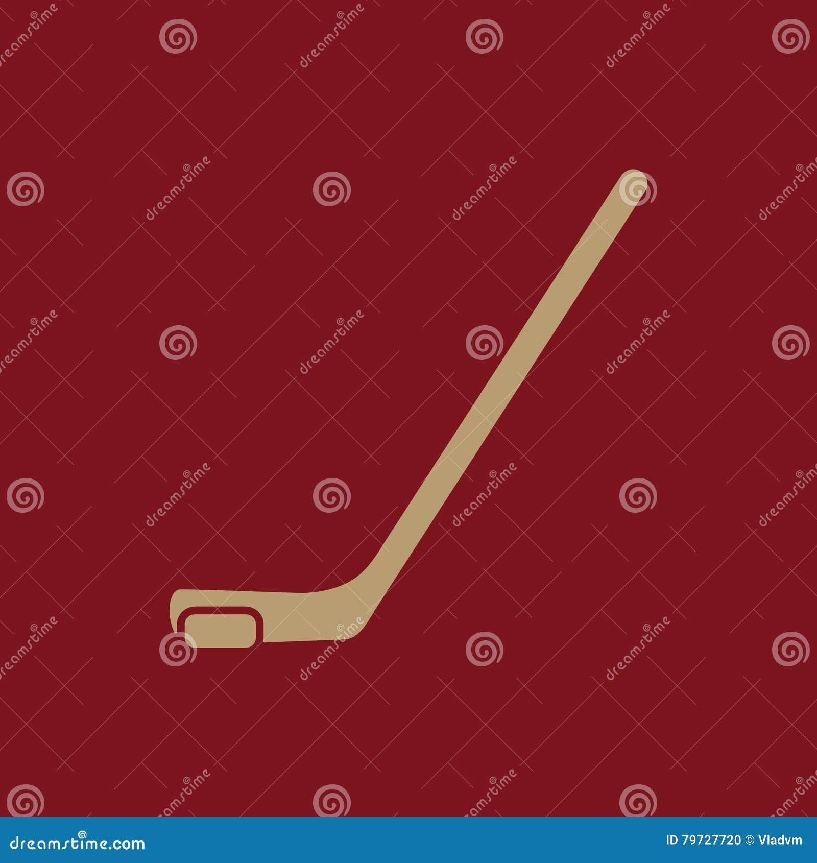 Icono del hockey Símbolo del juego plano