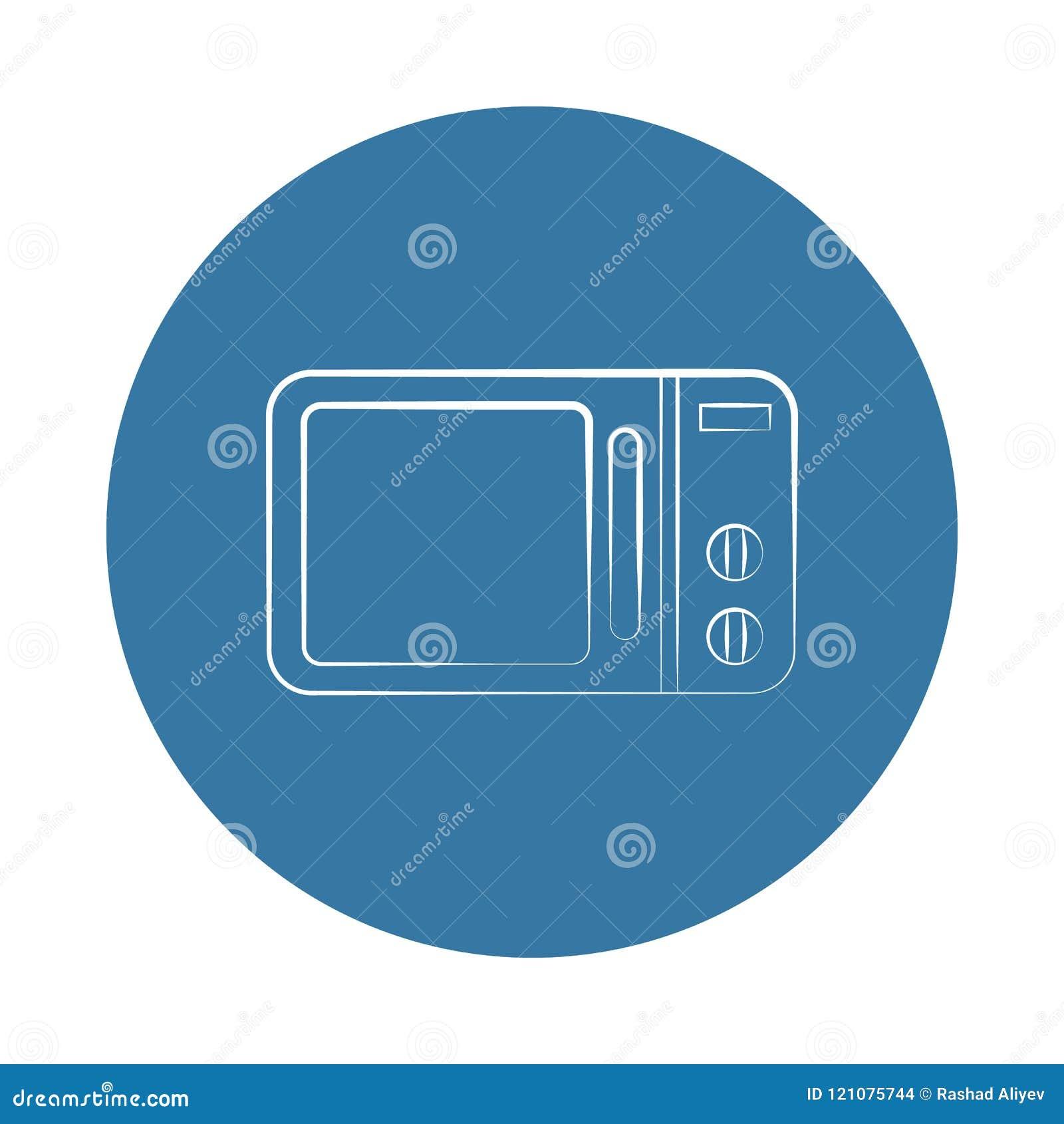 Icono del horno de microondas del logotipo Elemento de los electro iconos para los apps móviles del concepto y del web El icono d