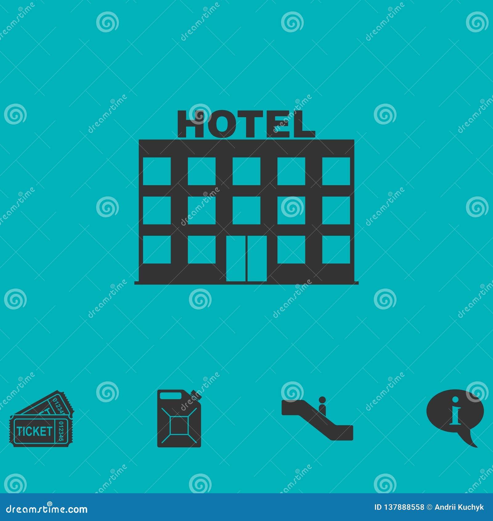 Icono del hotel plano