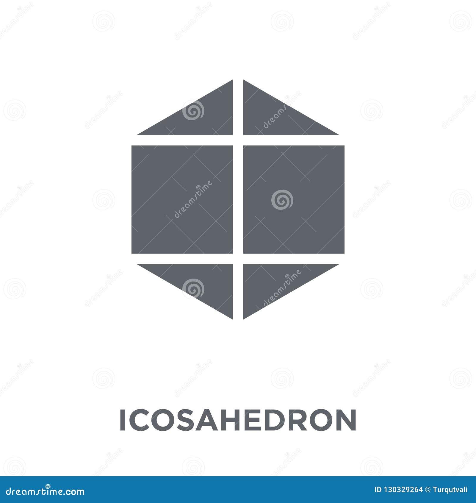 Icono del Icosahedron de la colección de la geometría