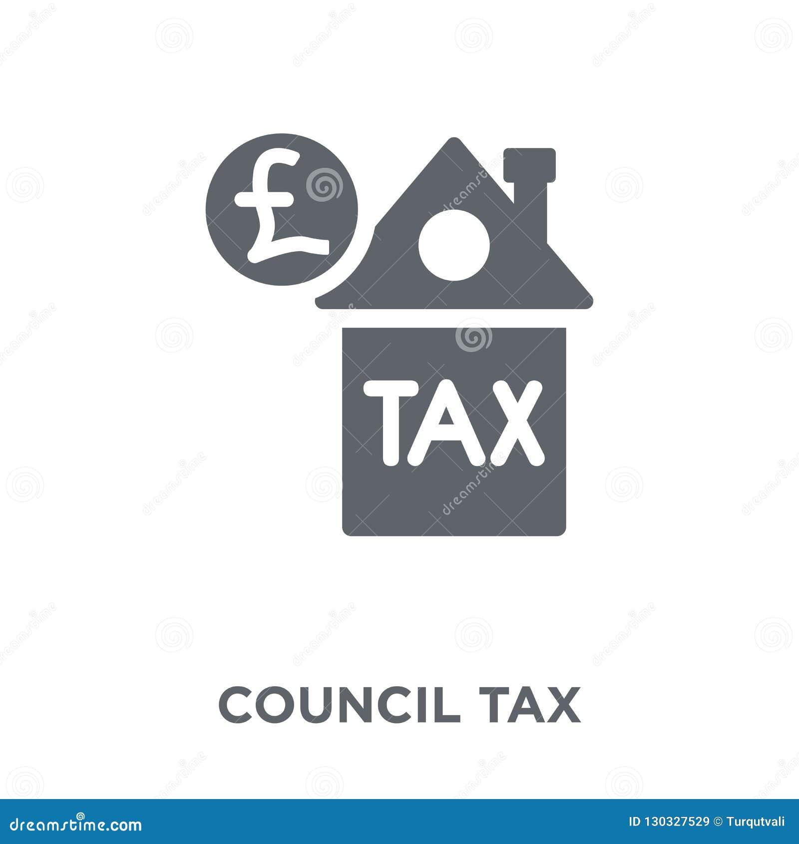 Icono del impuesto municipal de la colección del impuesto municipal