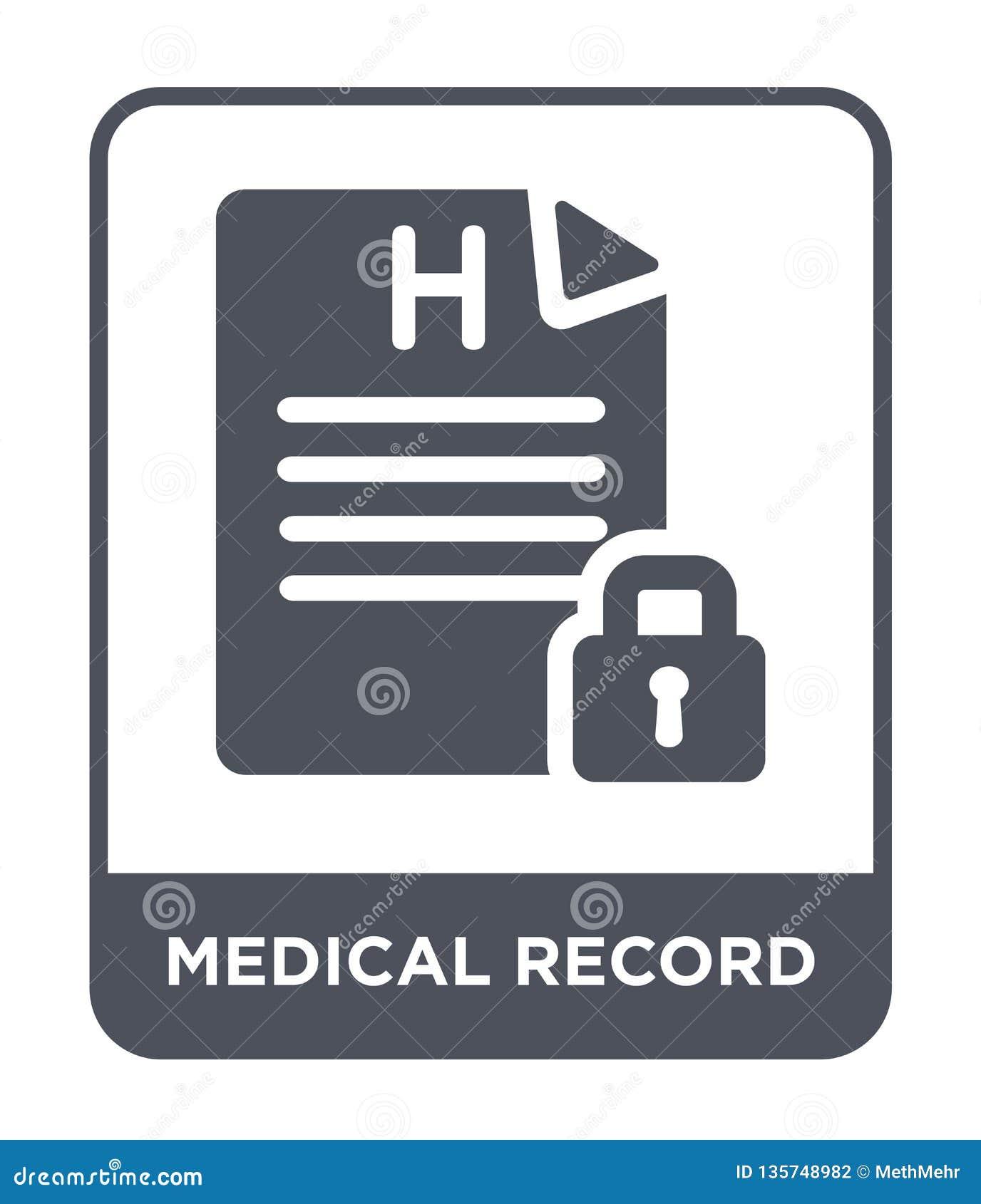 Icono del informe médico en estilo de moda del diseño icono del informe médico aislado en el fondo blanco icono del vector del in