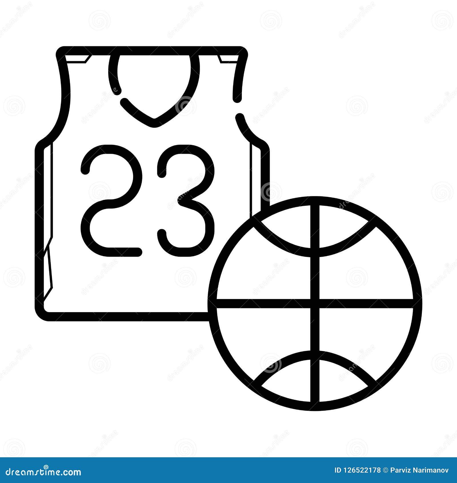 Icono del jersey del baloncesto