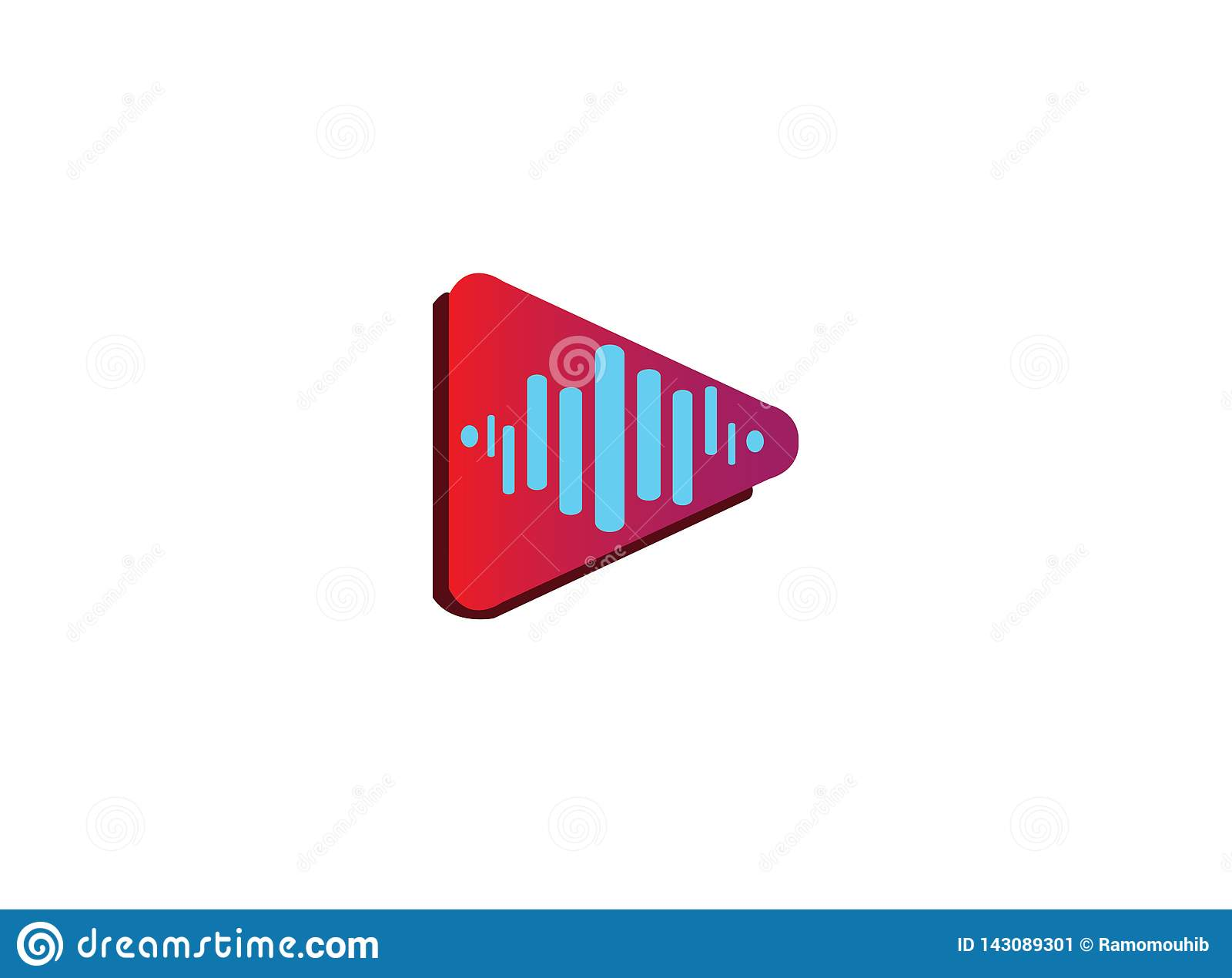 Icono del juego con las frecuencias sanas para el diseño del logotipo