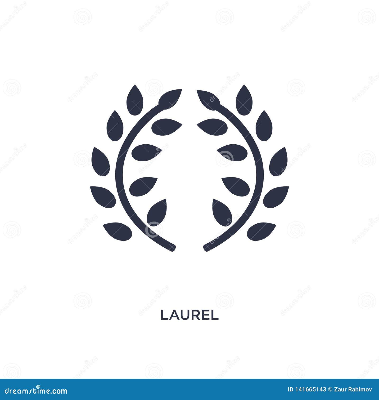 Icono del laurel en el fondo blanco Ejemplo simple del elemento del concepto de Grecia
