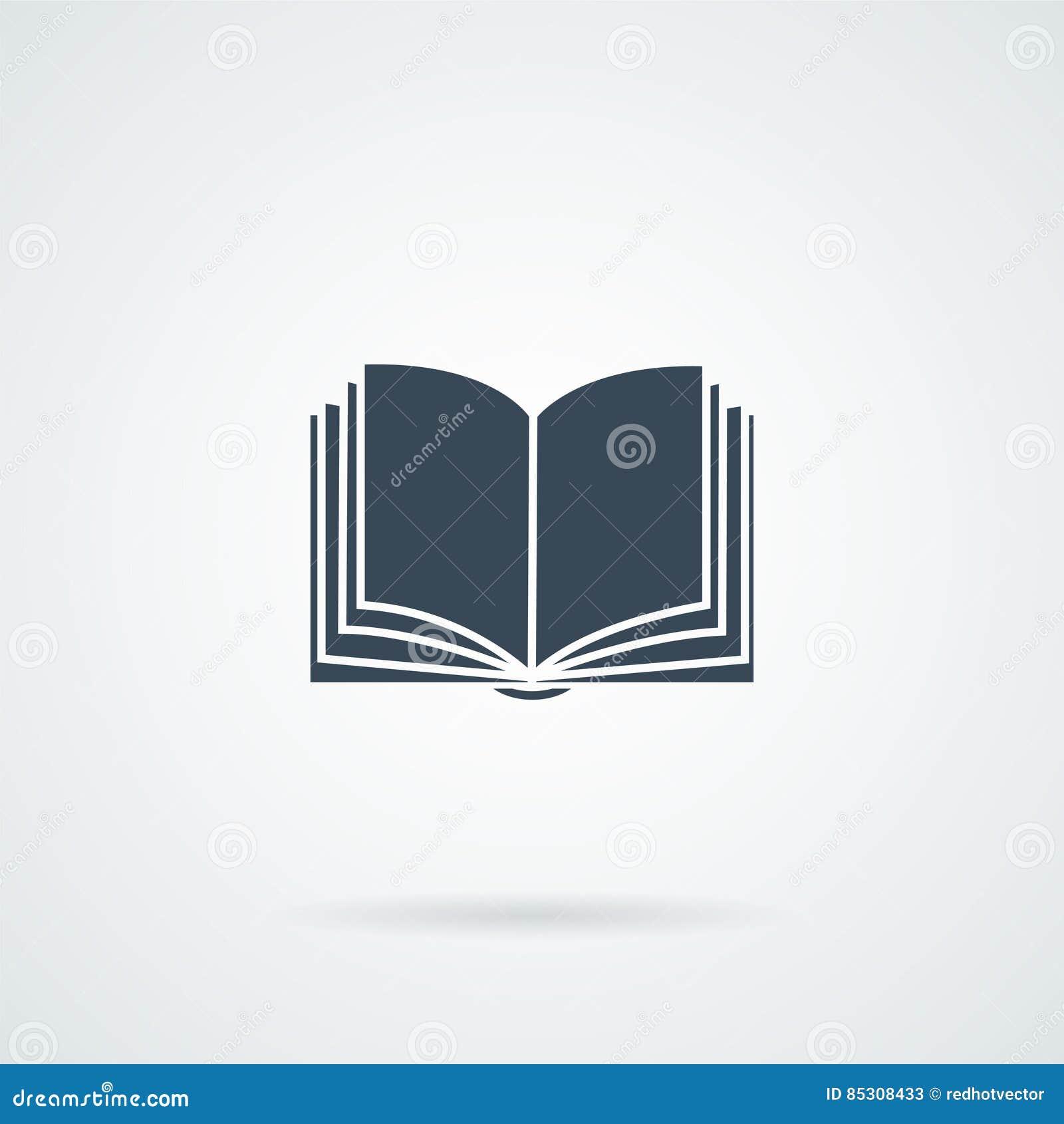 Icono del libro en el bockground blanco