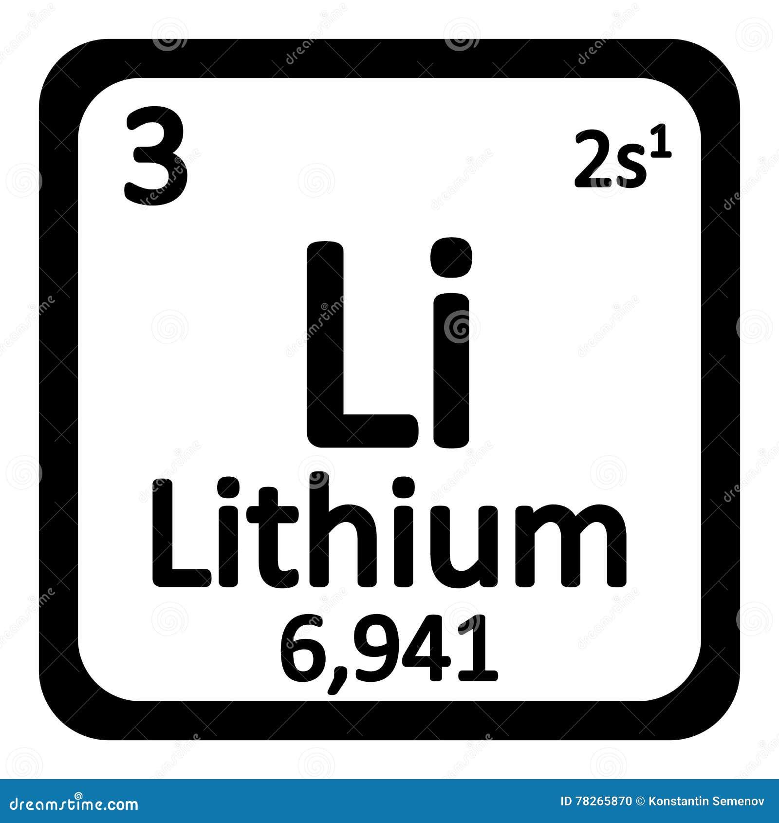Icono del litio del elemento de tabla peridica stock de ilustracin icono del litio del elemento de tabla peridica urtaz Gallery