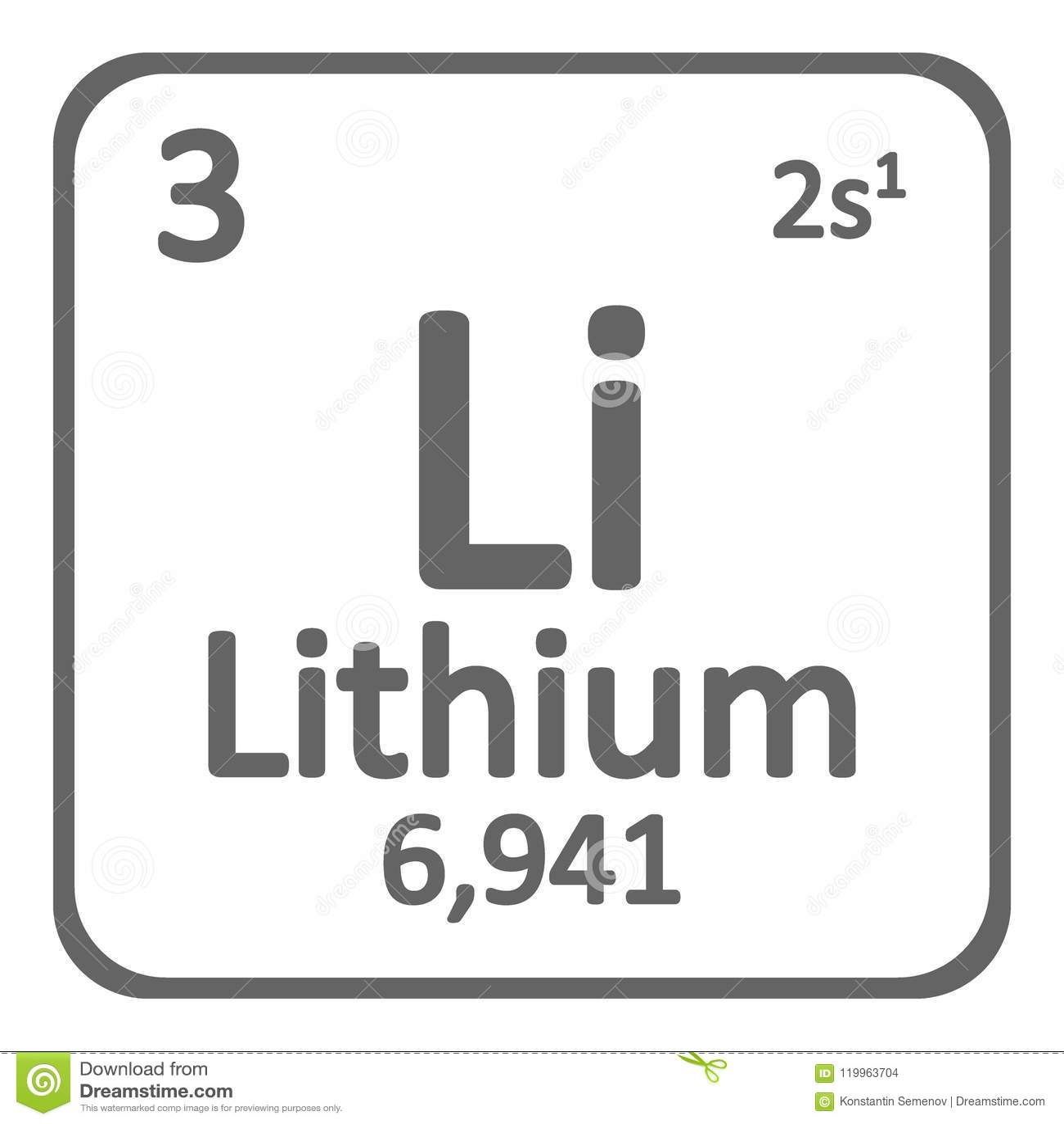 Icono del litio del elemento de tabla peridica stock de ilustracin download comp urtaz Choice Image