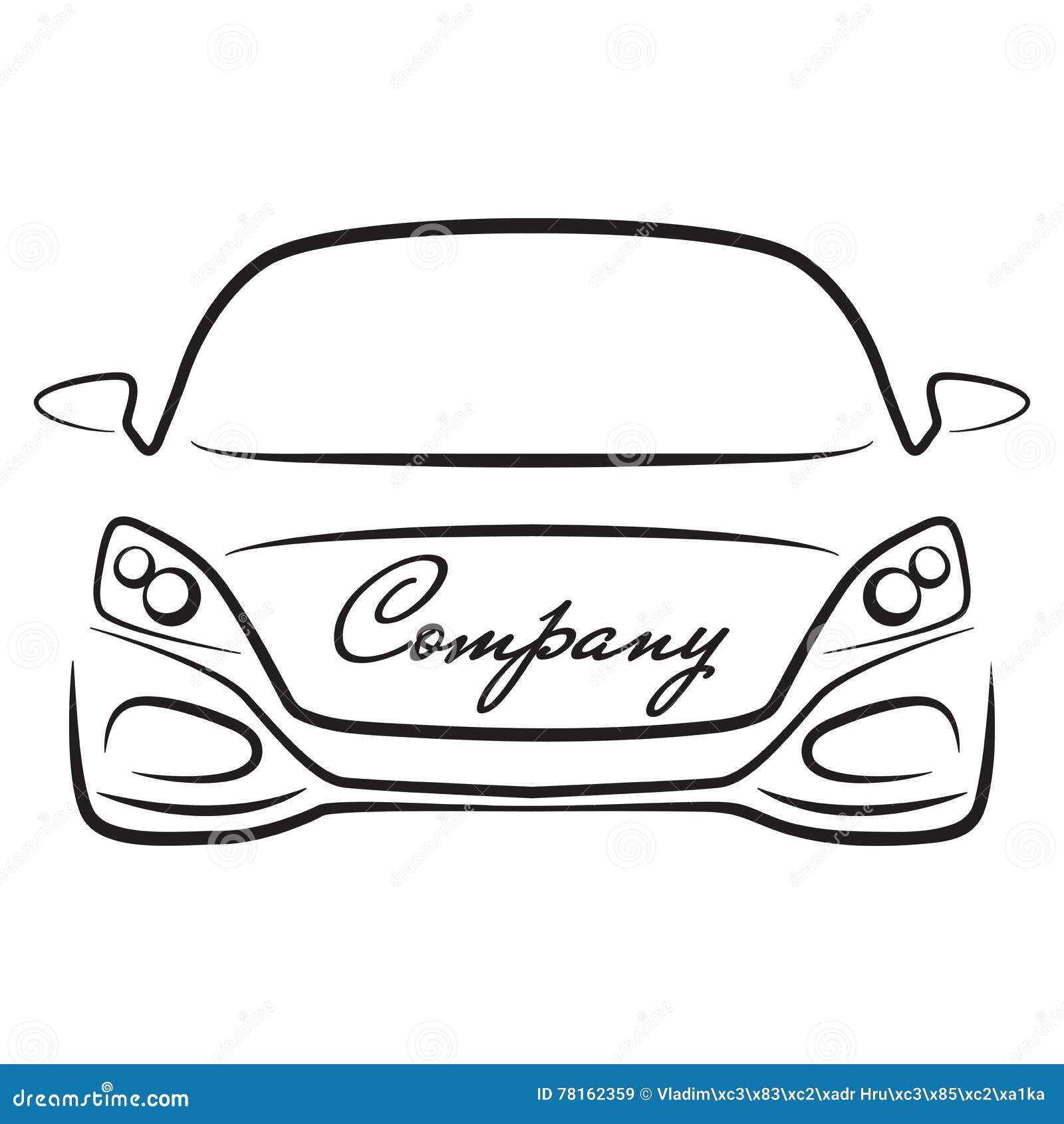 Icono Del Logotipo De La Compañía Del Concesionario De Automóviles ...