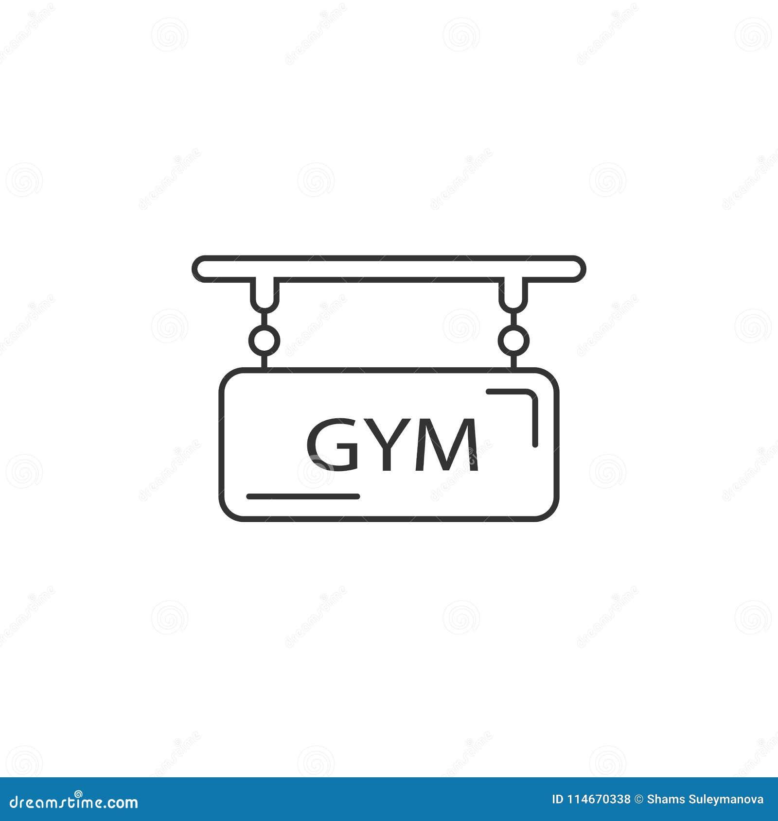 Icono del logotipo del gimnasio Ejemplo simple del elemento Plantilla del diseño del símbolo del logotipo del gimnasio Puede ser