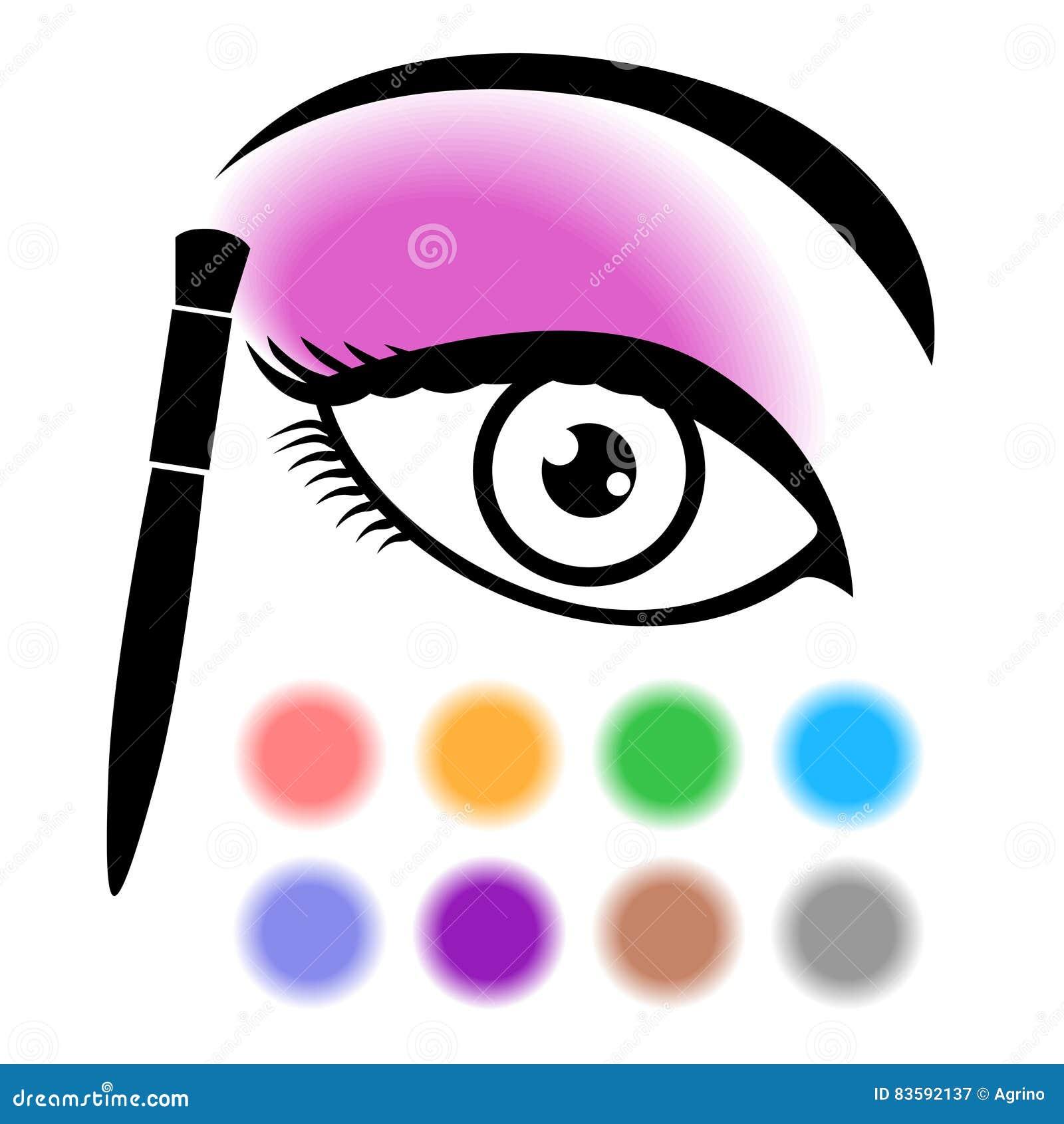 Icono del maquillaje del ojo
