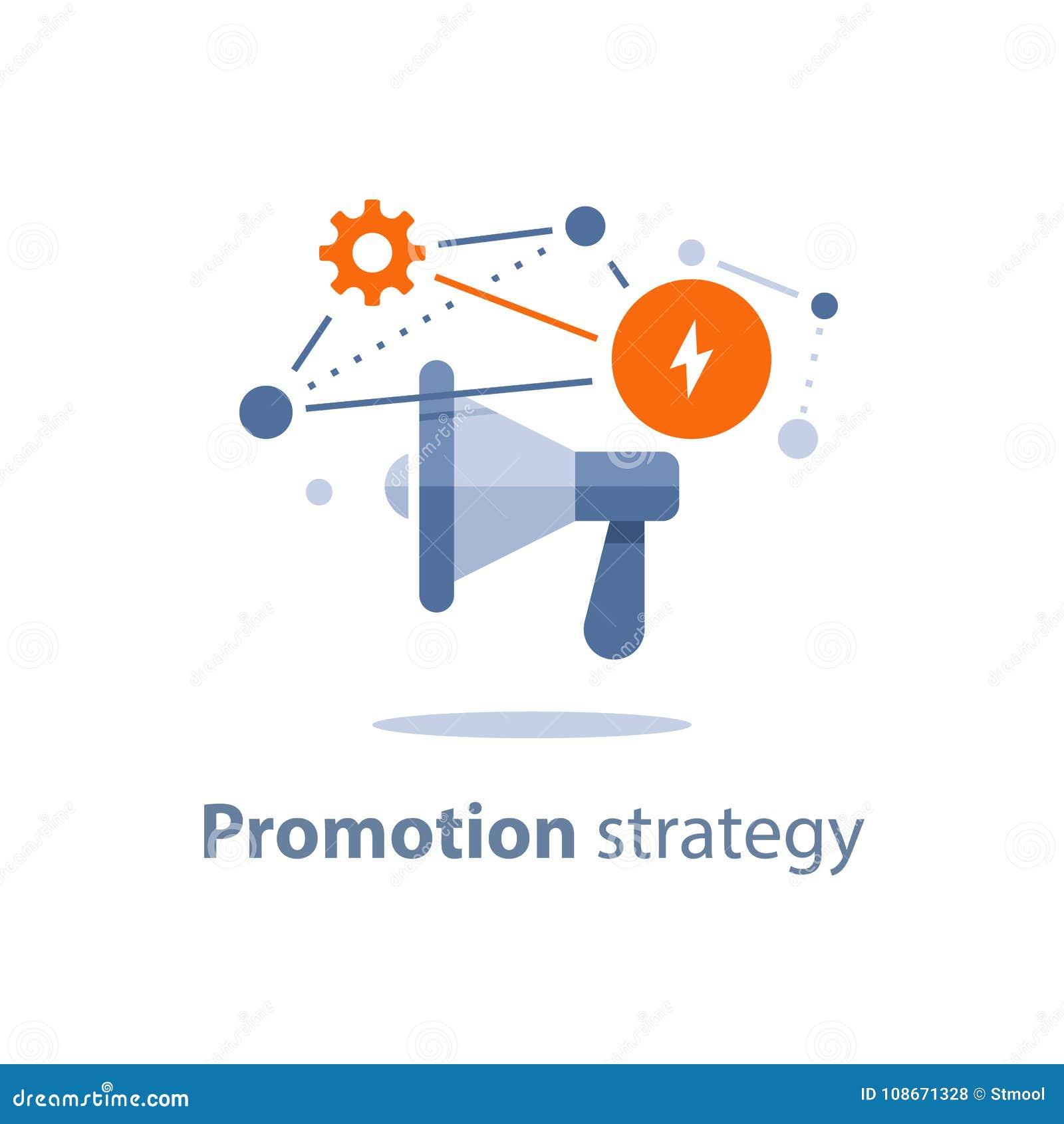 Icono Del Megáfono, Plan De La Estrategia De Marketing, Aviso De ...