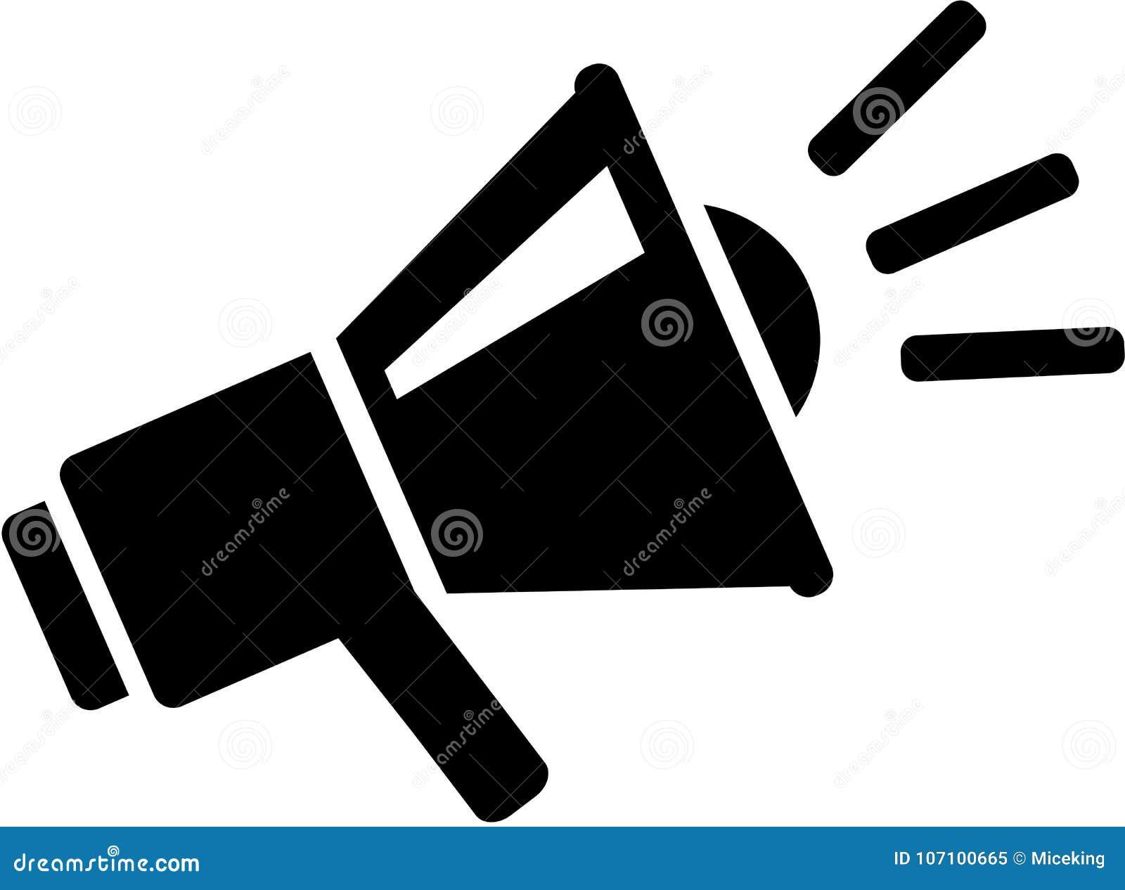 Icono del mensaje del megáfono